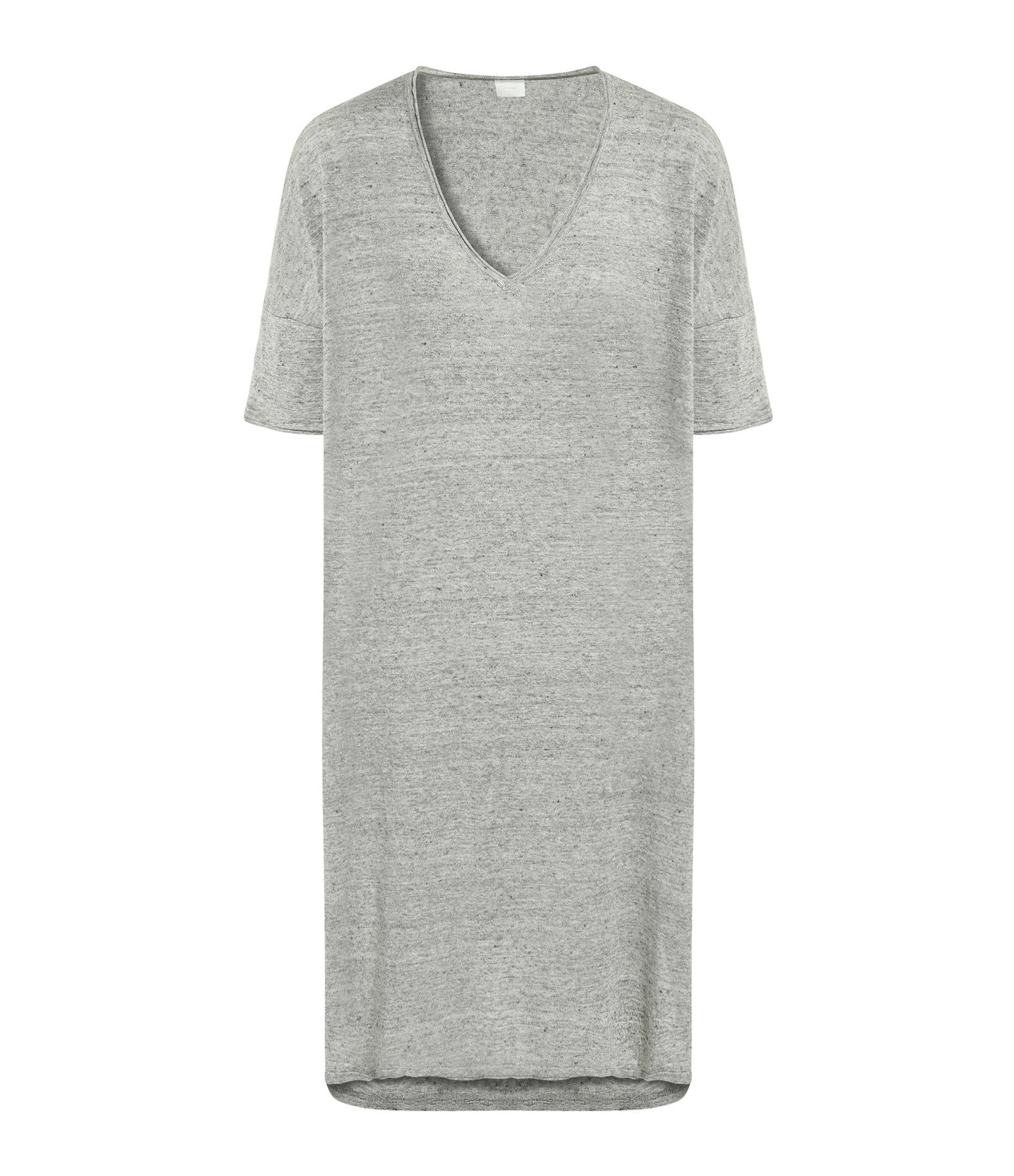 CT PLAGE - Robe Lin Gris Clair