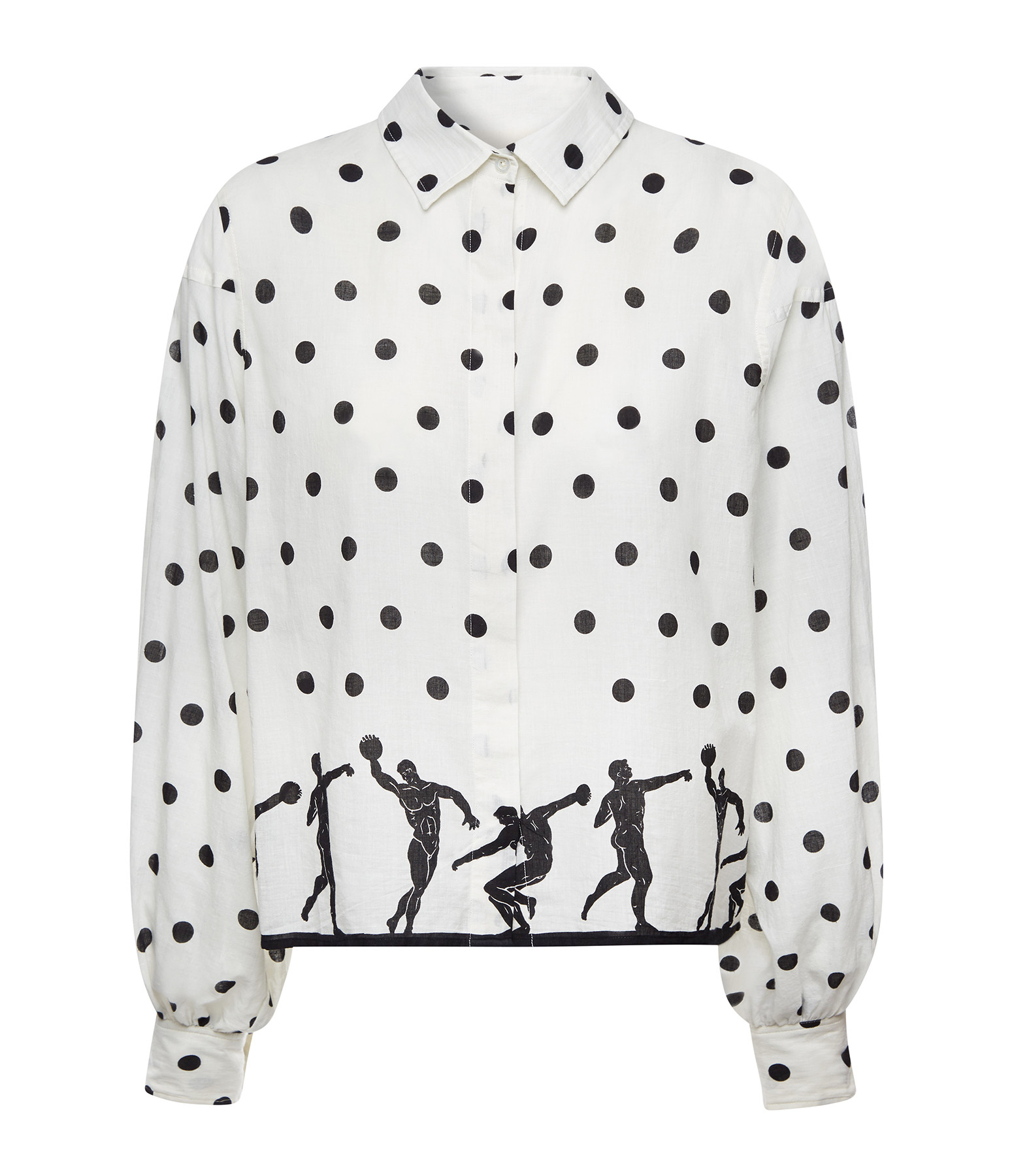 MII - Chemise Pois Coton Noir Blanc