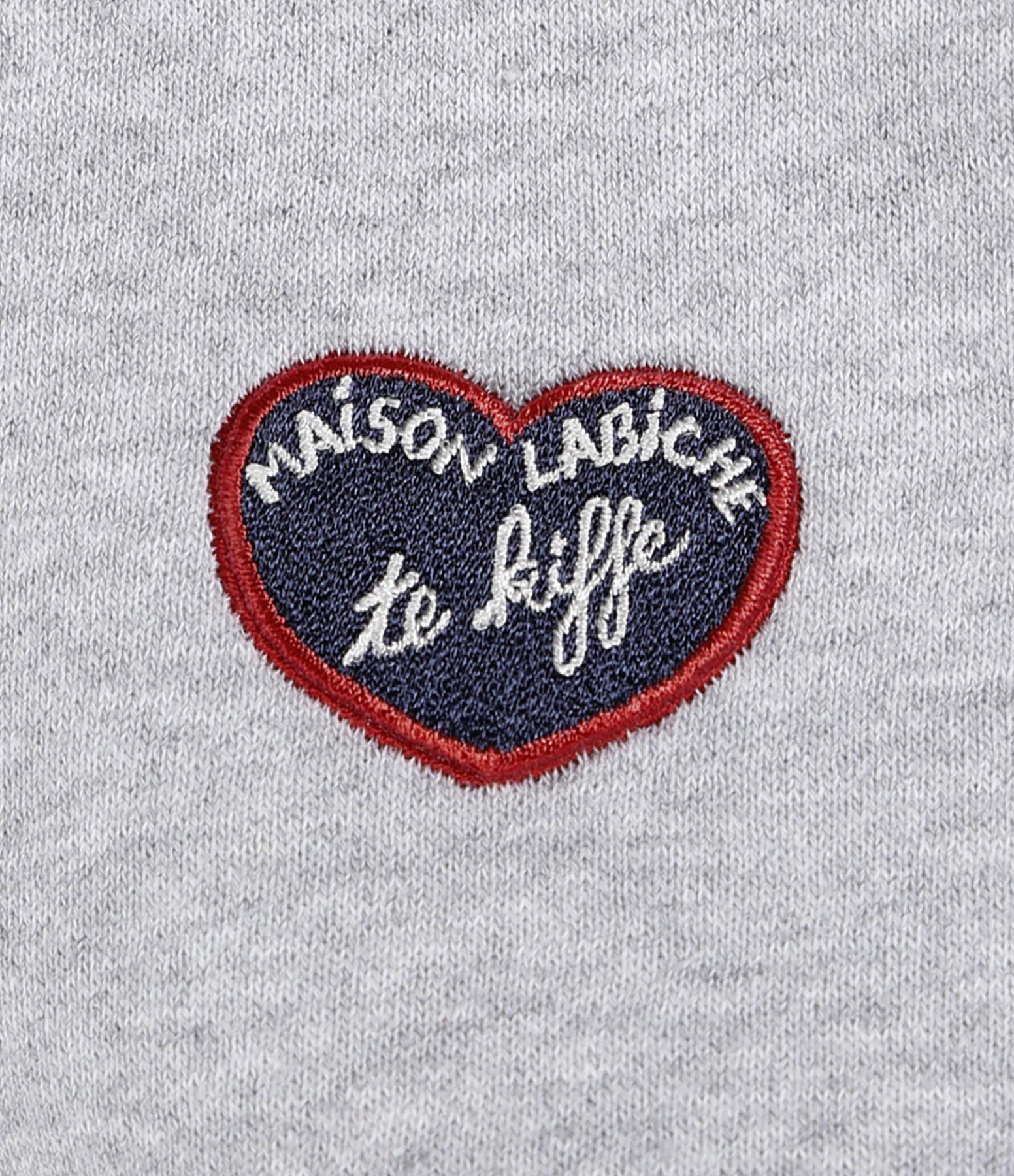 MAISON LABICHE - Sweatshirt Hoodie MLB Te Kiff Coton Gris Chiné