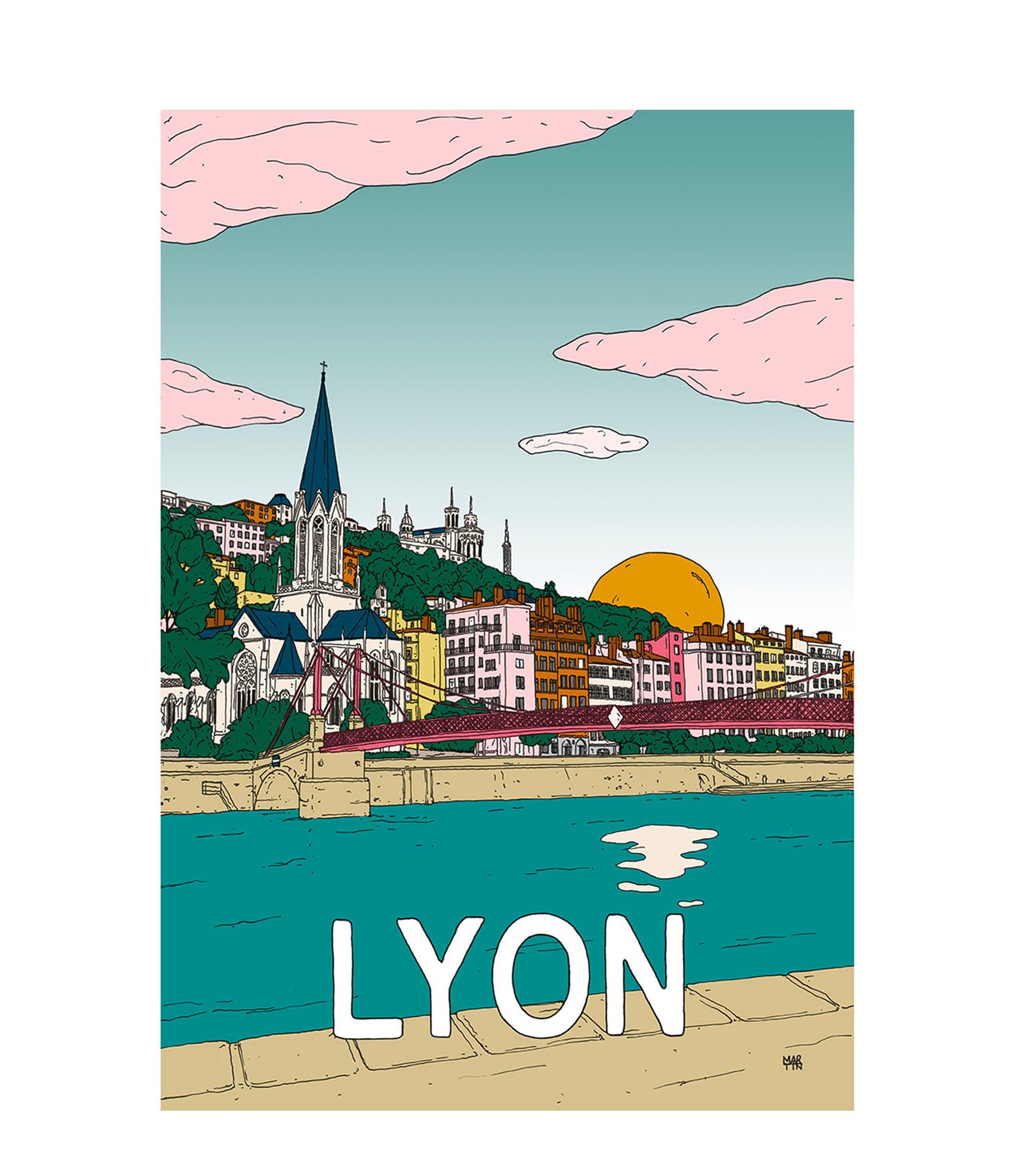 MAISON SARAH LAVOINE - Affiche Lyon 50x70cm