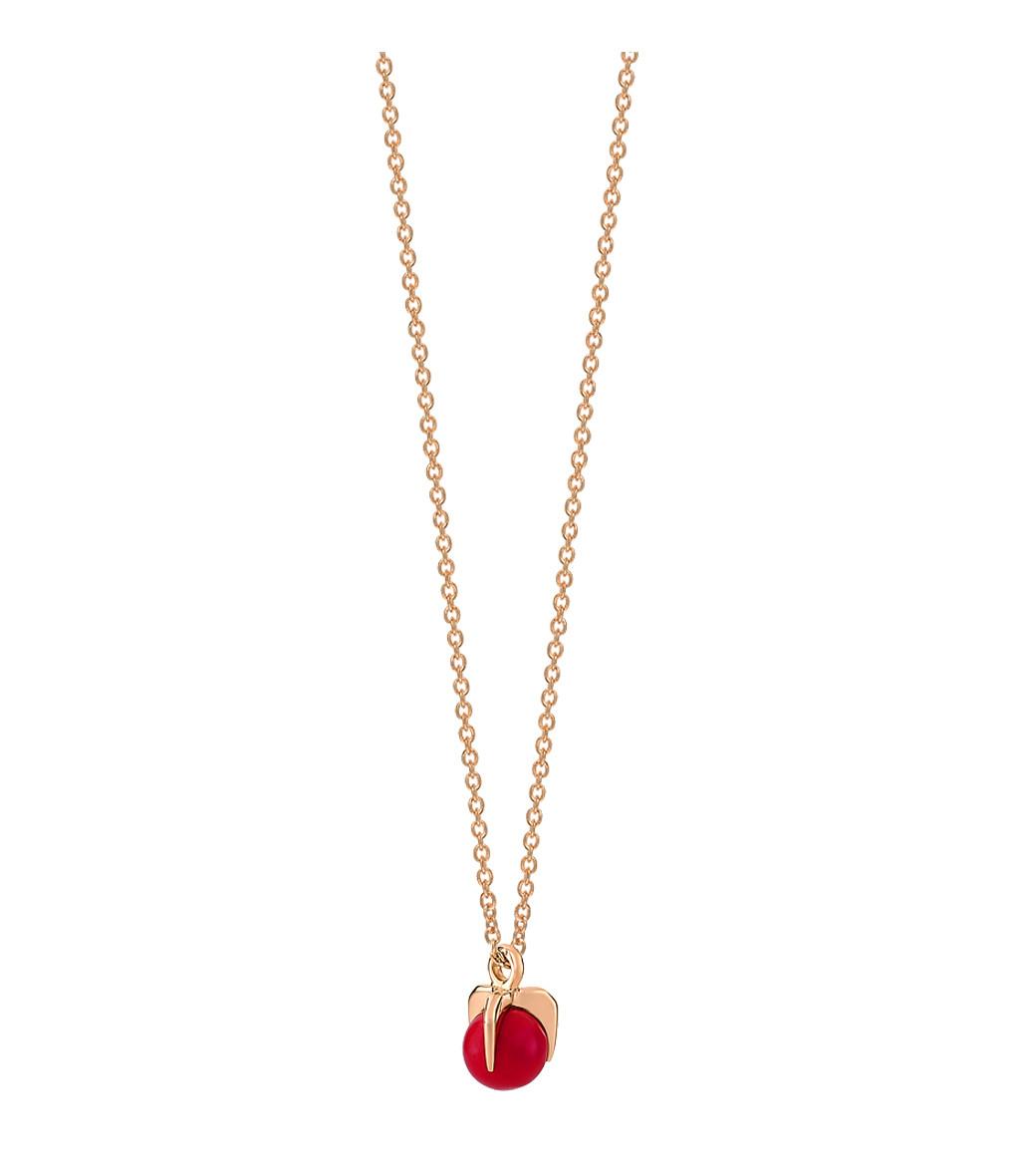 GINETTE_NY - Collier Maria Mini Or Rose Corail