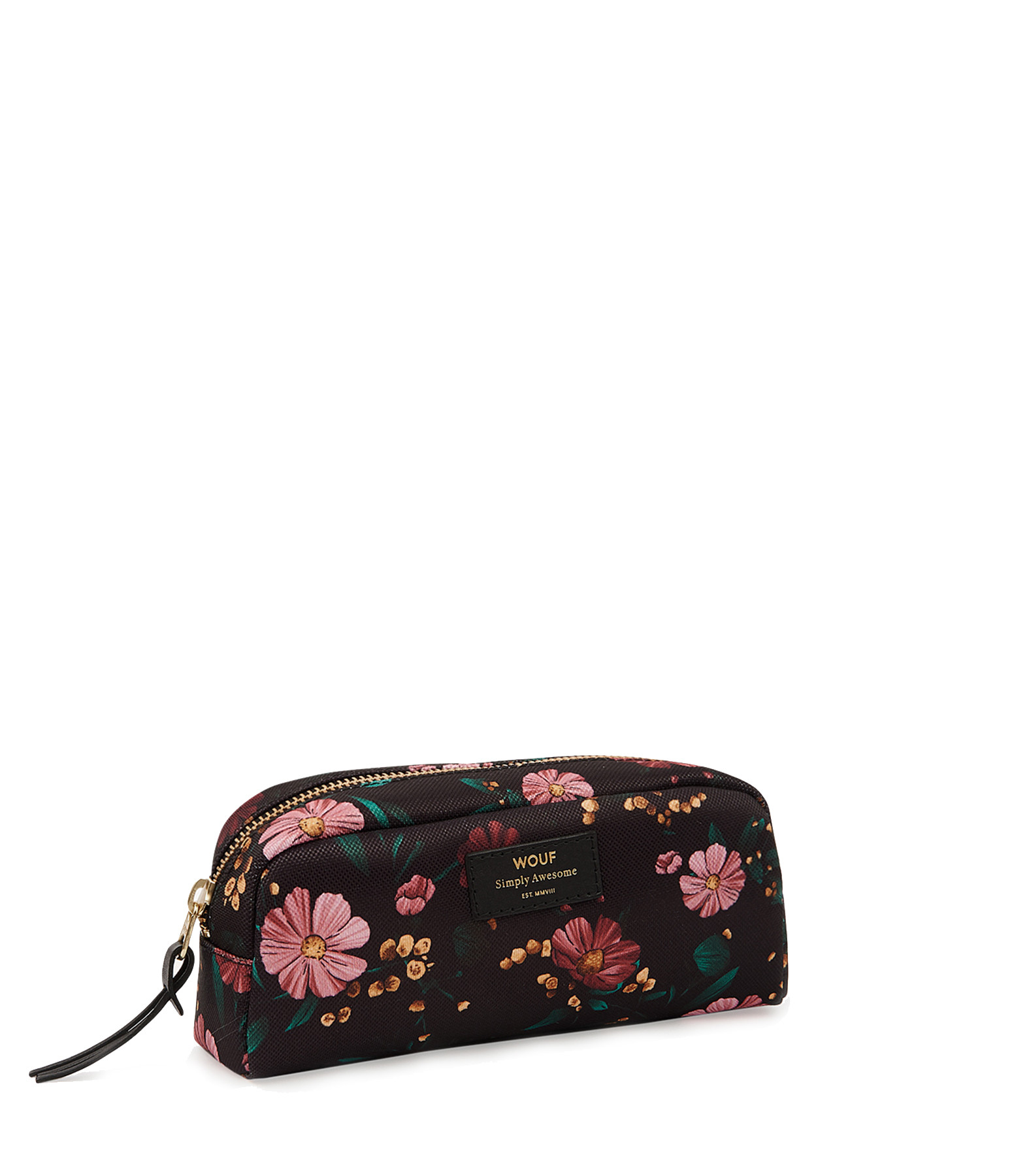 WOUF - Trousse Small Beauty Black Flowers