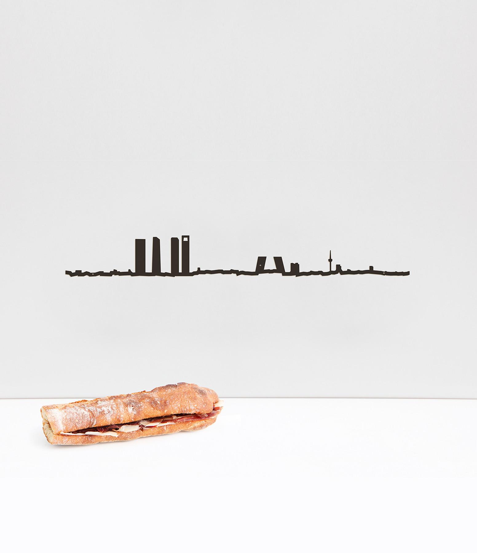 THE LINE - Sculpture Murale Métallique Madrid Noir