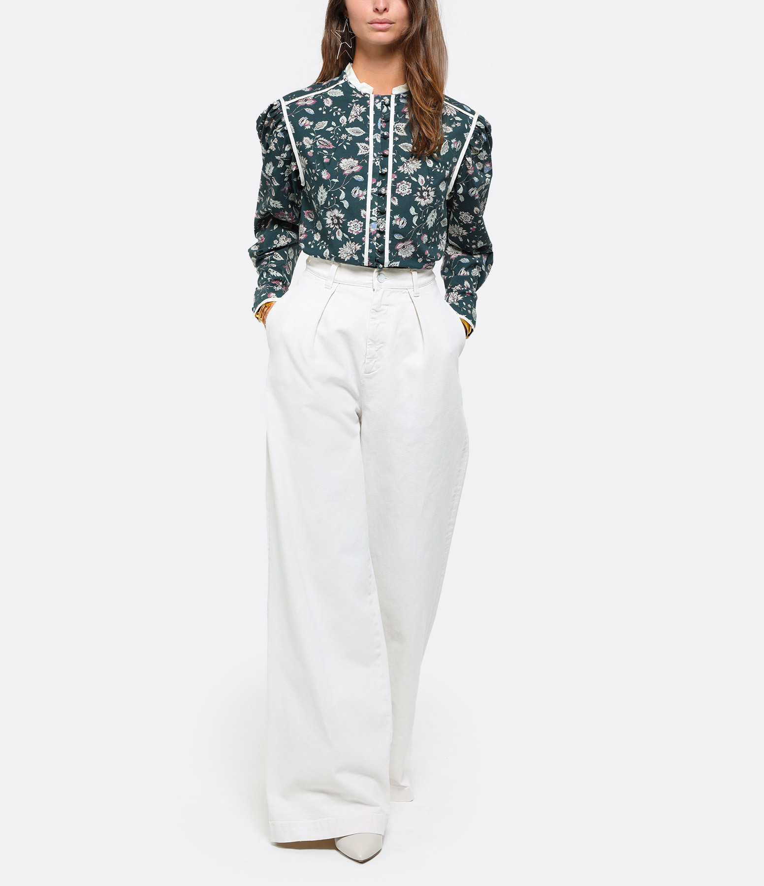 MADE IN TOMBOY - Pantalon Denim Enea Ivoire