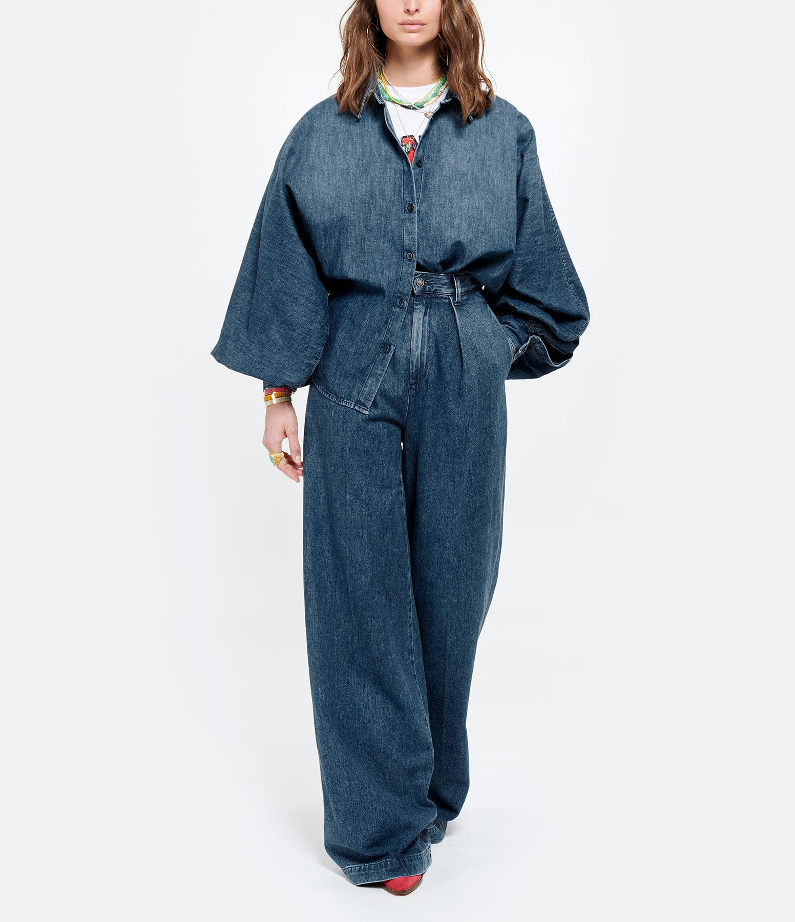 MADE IN TOMBOY - Chemise Claire Bleu