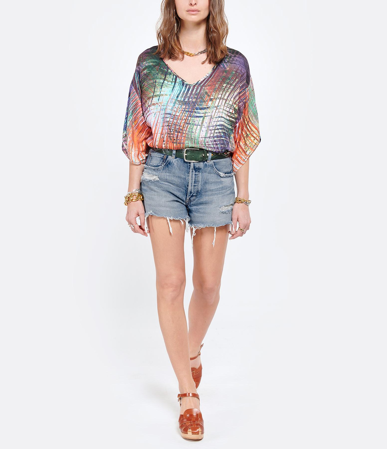 MAEVY - Tee-shirt Mimosaprint Imprimé Multicolore