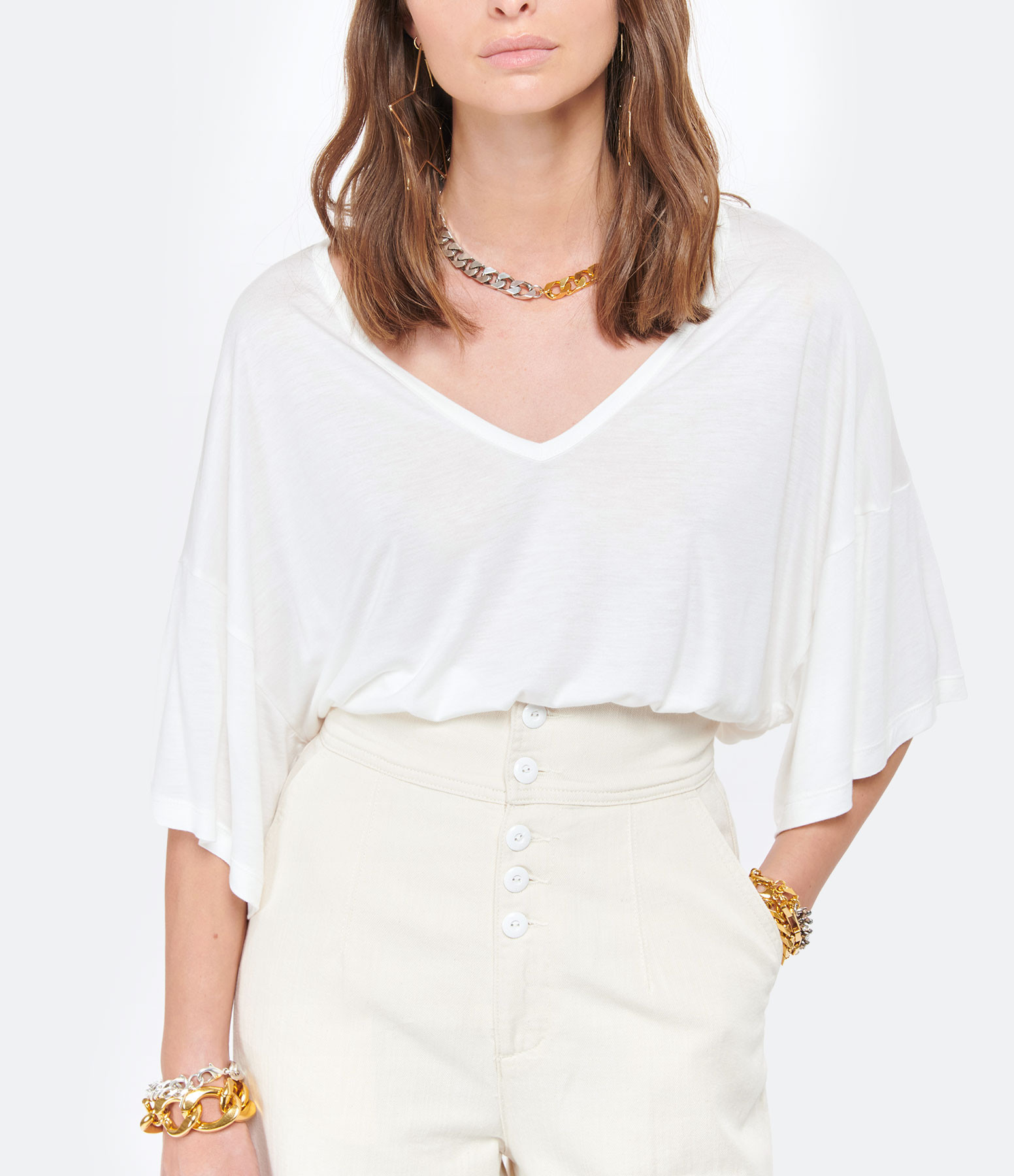 MAEVY - Tee-shirt Marie Bambou Beige