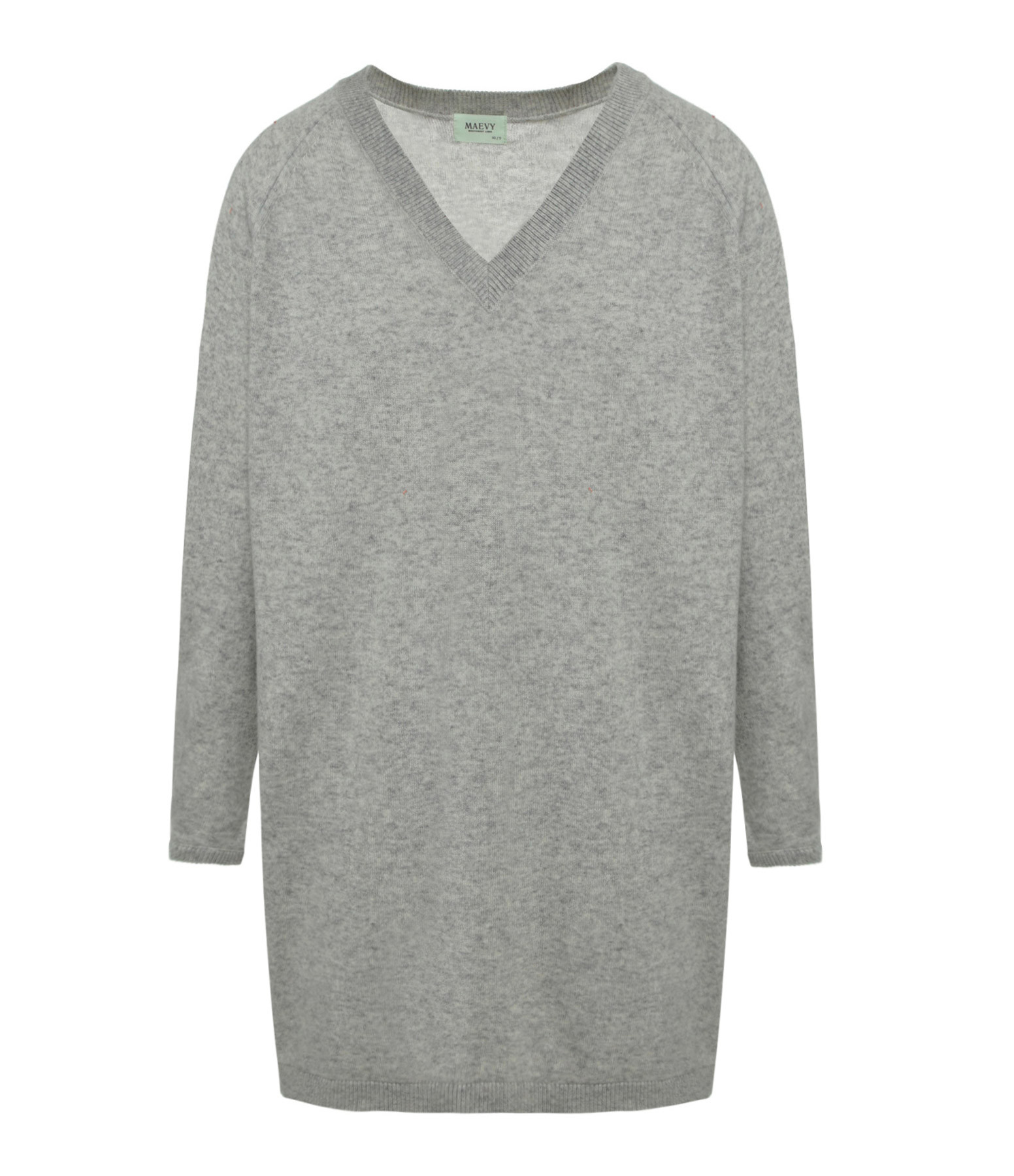 MAEVY CONCEPT - Robe Absolu Cachemire Laine Gris Clair