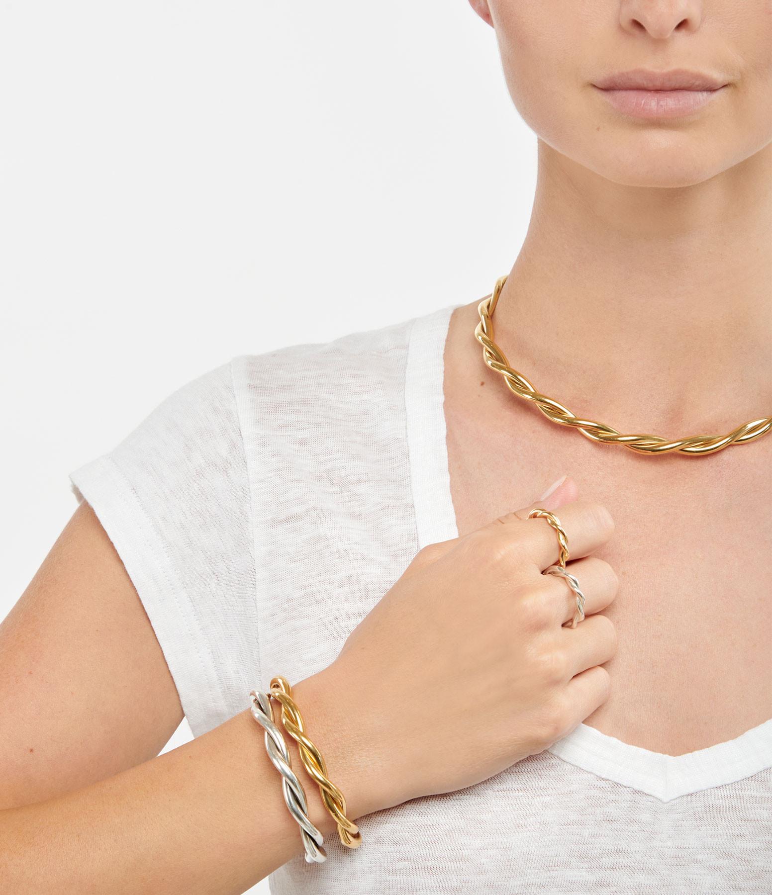 MAGALI PONT - Bracelet Torsade Plaqué Or