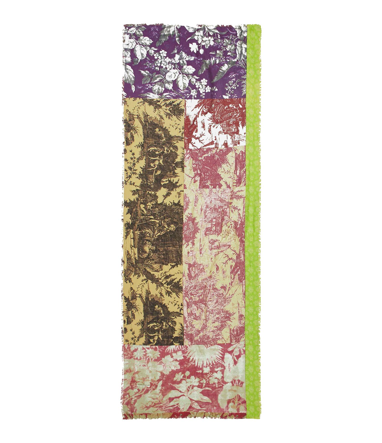 PIERRE-LOUIS MASCIA - Foulard Maggiore Soie Imprimé Multicolore 65 x 190cm