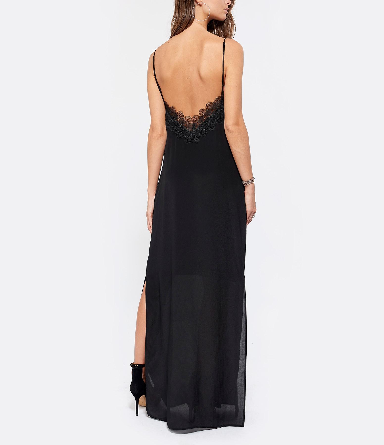MAGALI PASCAL - Robe Longue Loretta Soie Noir