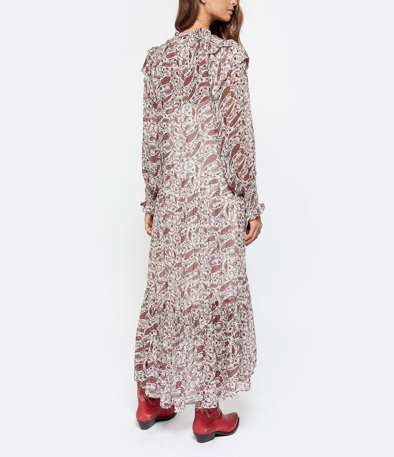 MAGALI PASCAL - Robe Longue Daria Paisley Rouge