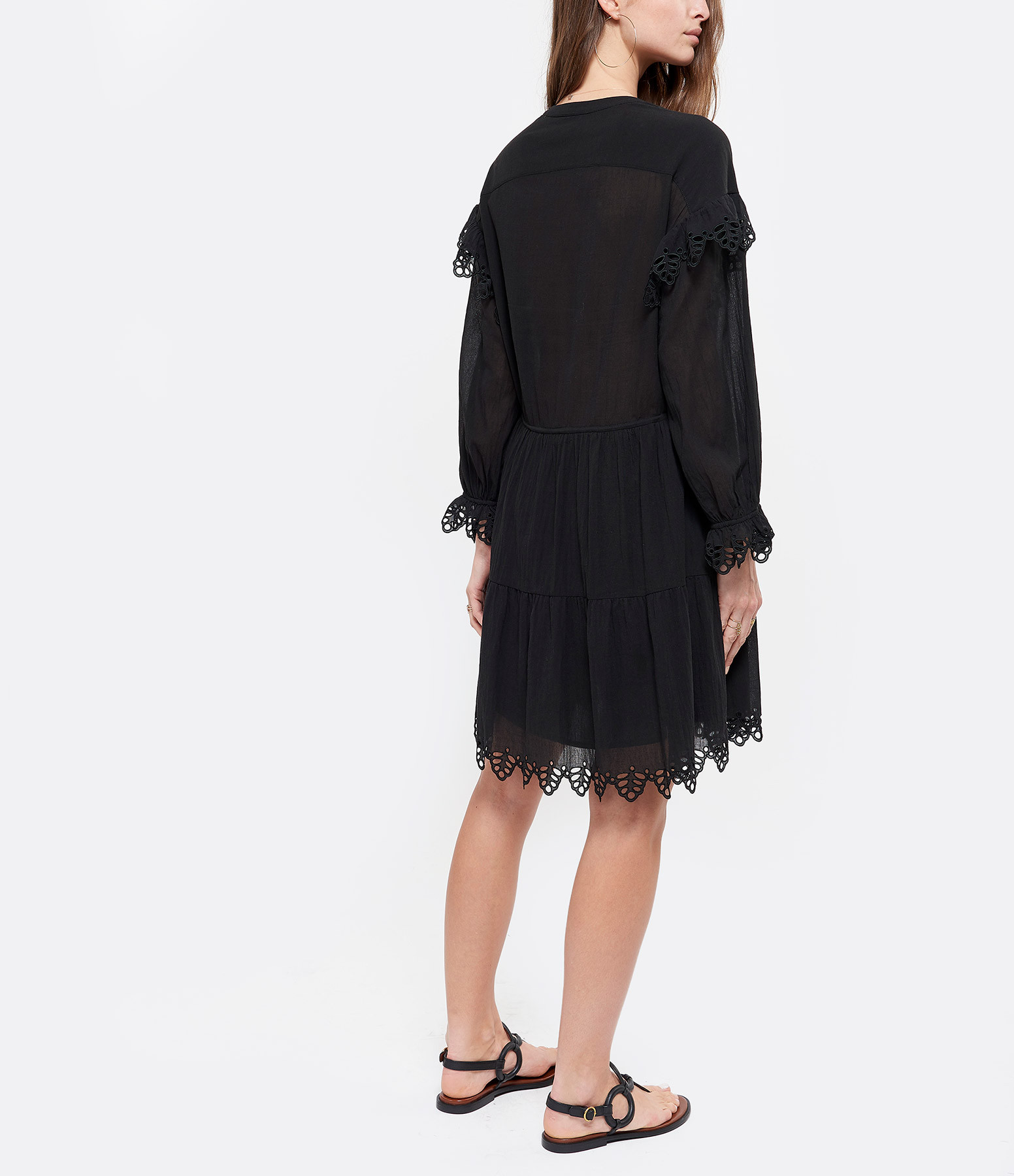 MAGALI PASCAL - Robe Josette Coton Noir