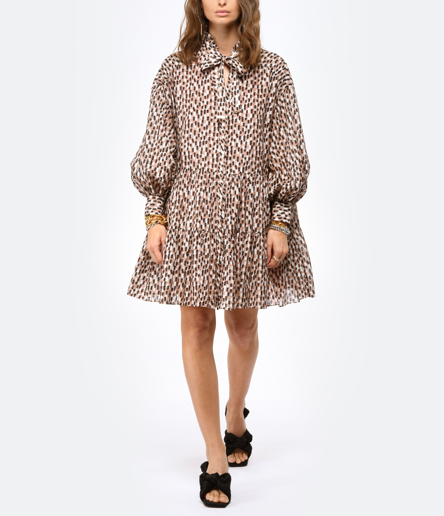 MAGALI PASCAL - Robe Glory Soie Coton Brush Imprimé