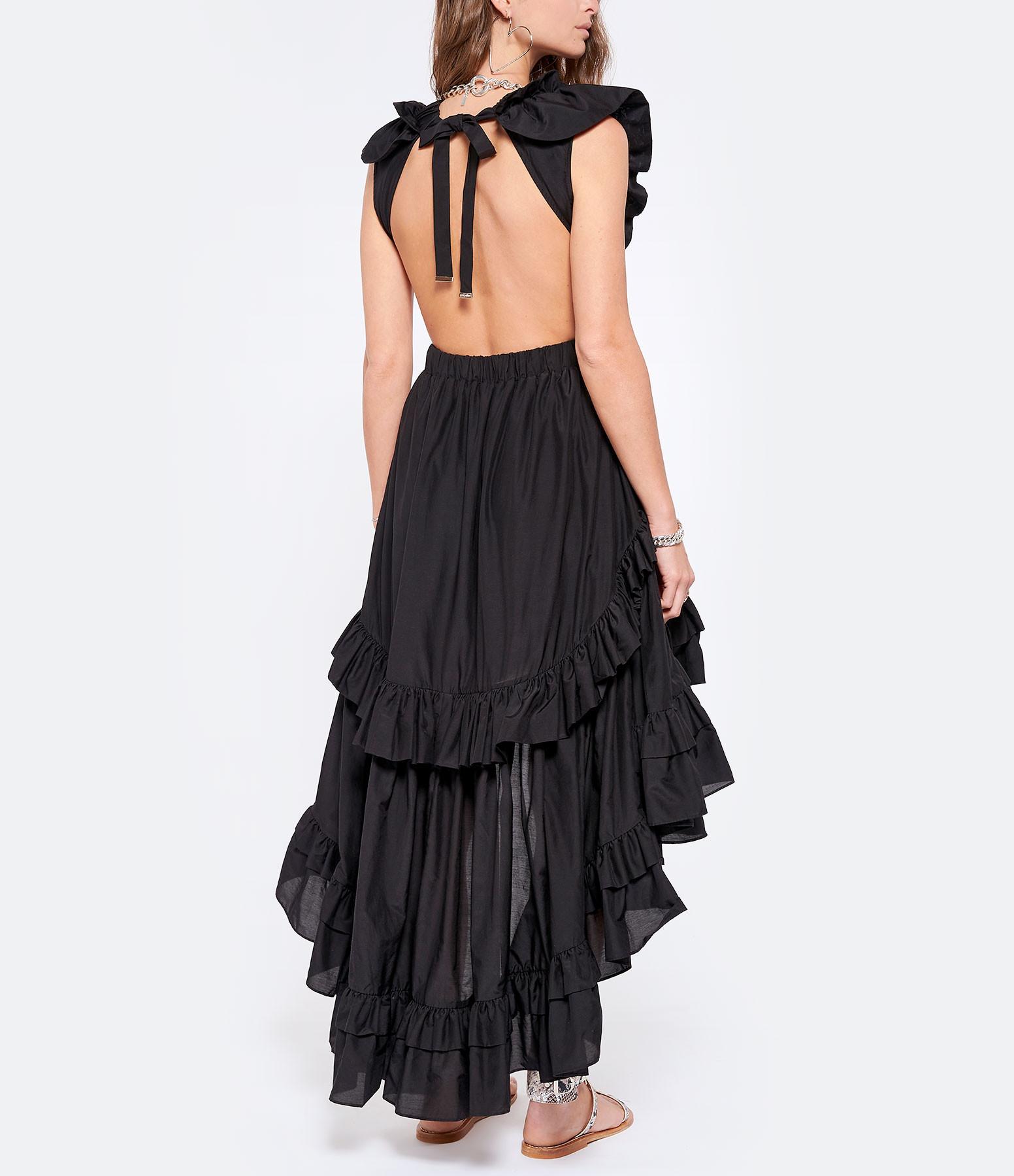 MAGALI PASCAL - Robe Botanic Soie Coton Noir