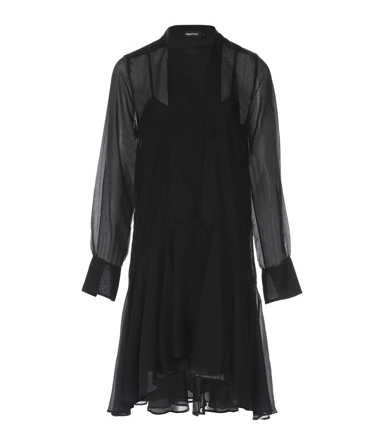 MAGALI PASCAL - Robe Celia Coton Soie Noir