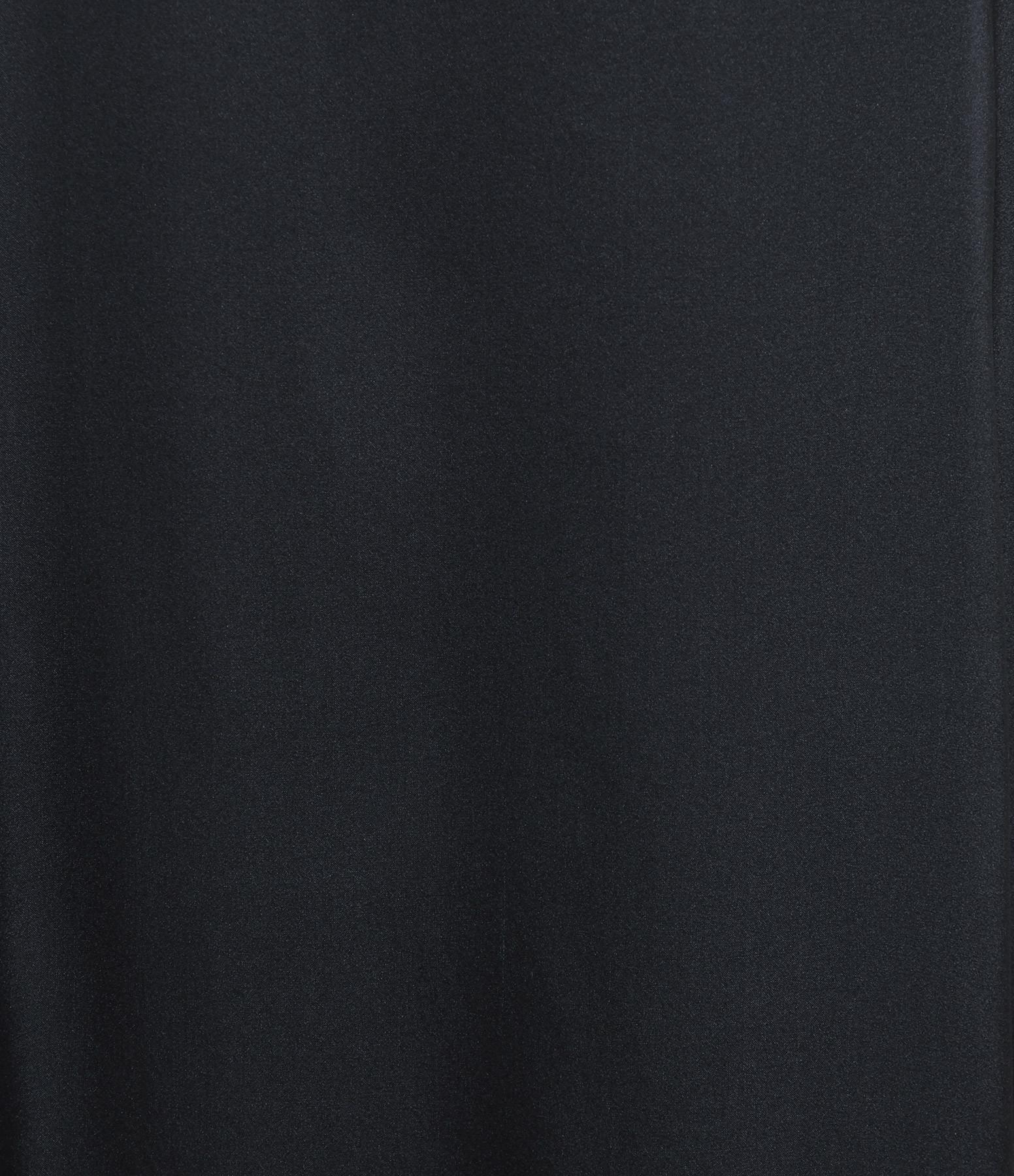 MAGALI PASCAL - Robe Longue Sakura Soie Bleu Nuit