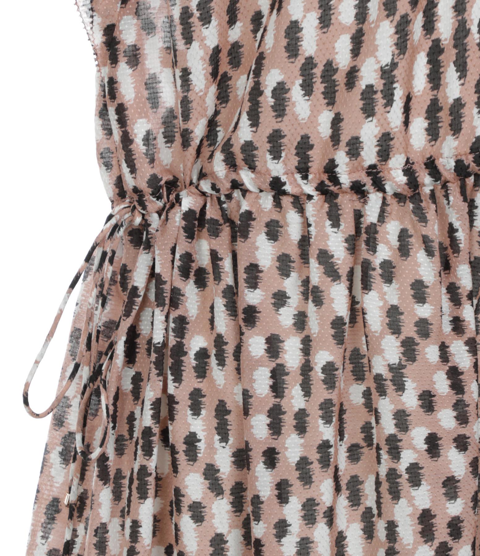 MAGALI PASCAL - Robe Jardin Soie Coton Bruch Imprimé