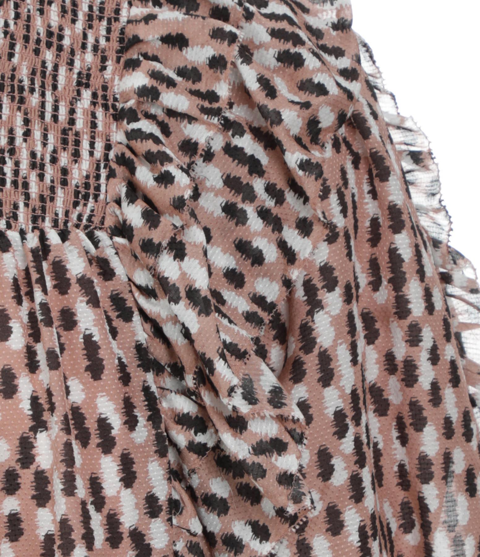 MAGALI PASCAL - Top Petal Soie Coton Brush Imprimé