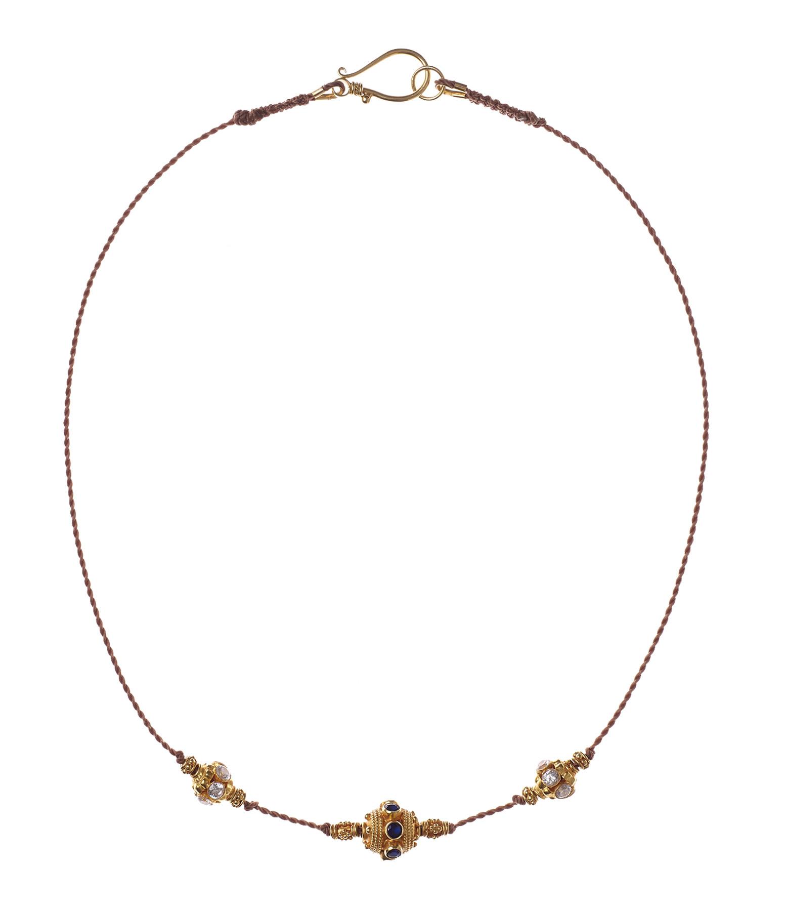 TITYARAVY - Collier Mahadevi Diamants Saphirs Or