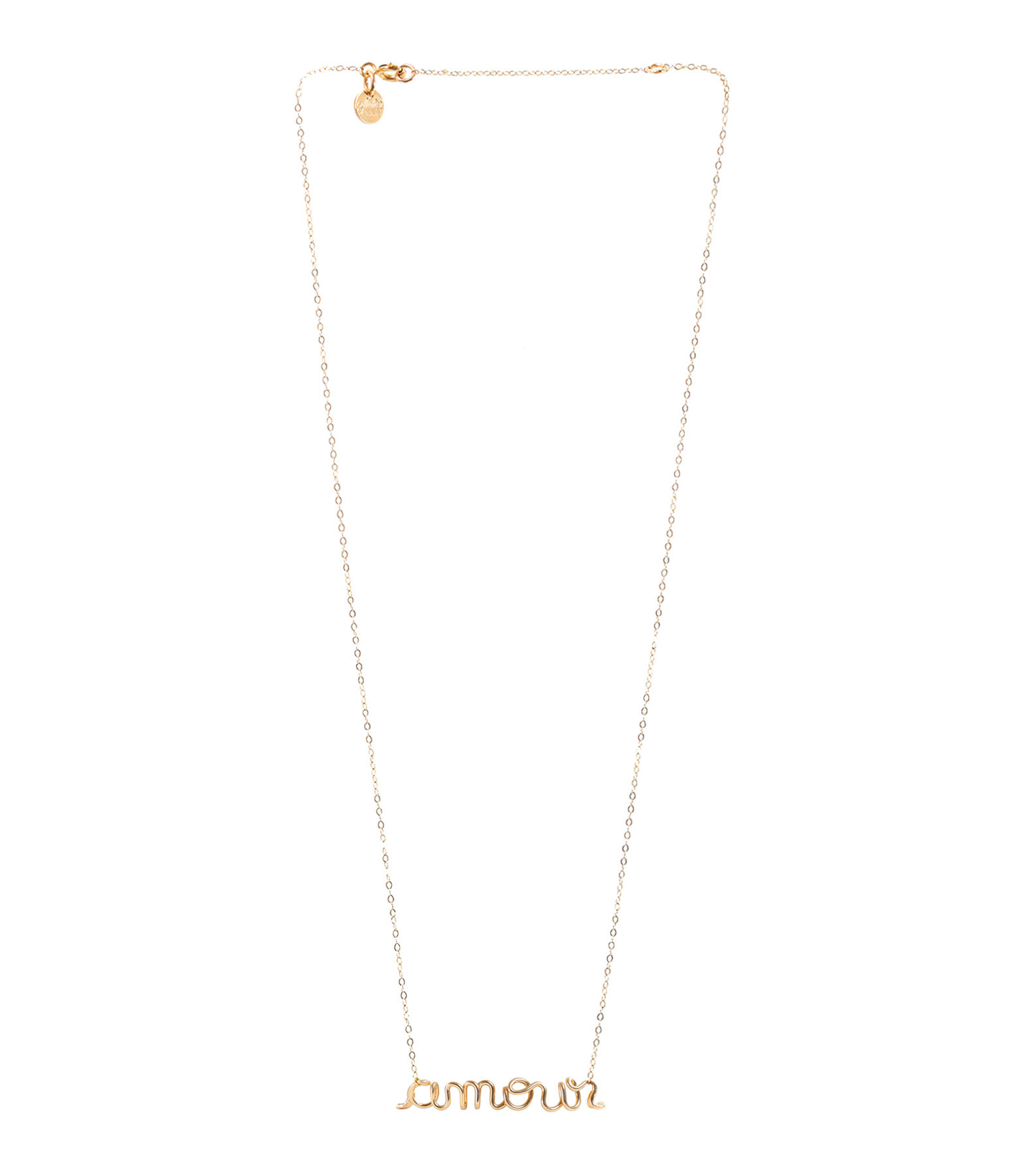 ATELIER PAULIN - Collier Richelieu Amour Gold Filled
