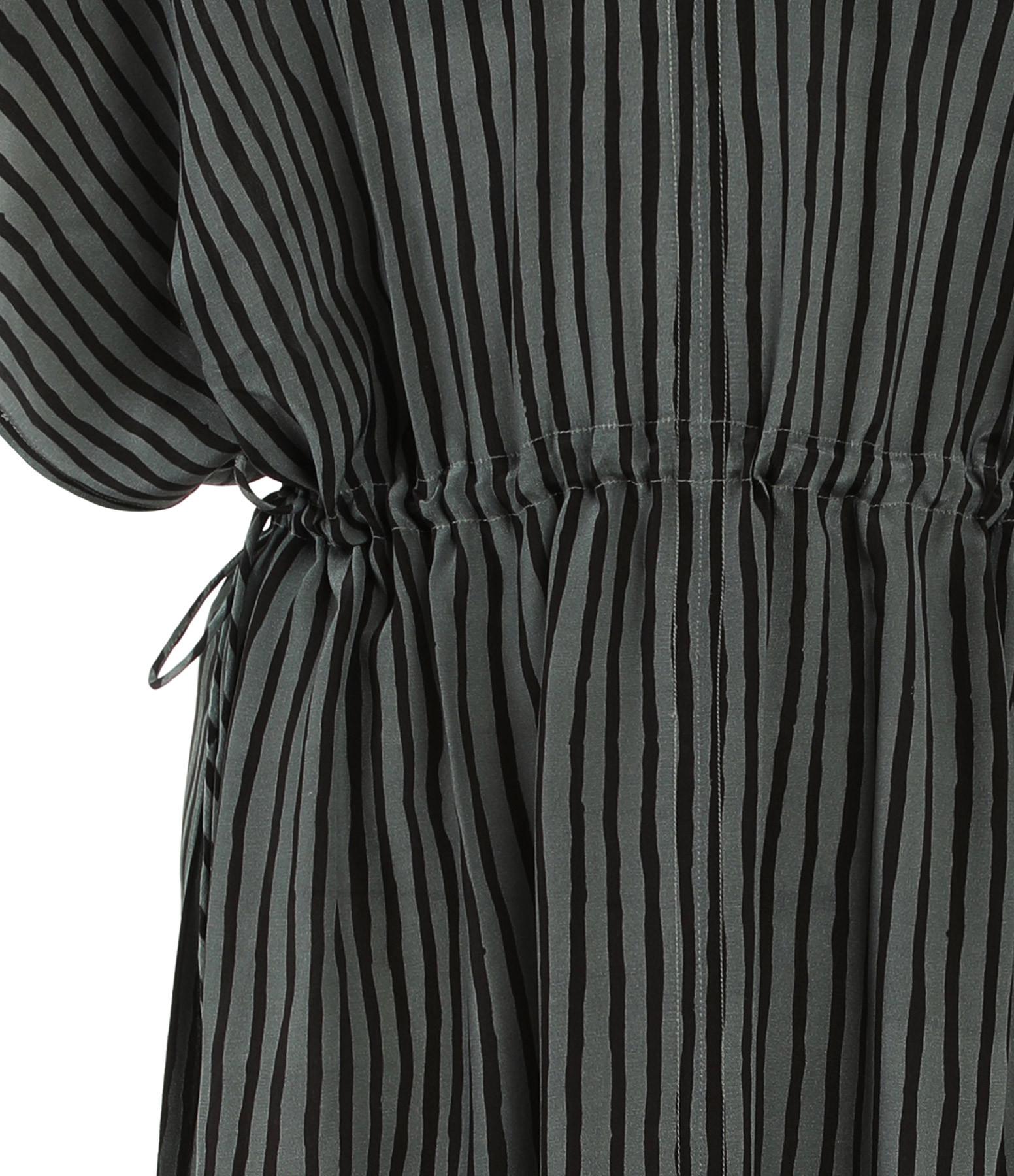 MARE DI LATTE - Robe Sarah Crêpe Soie Noir