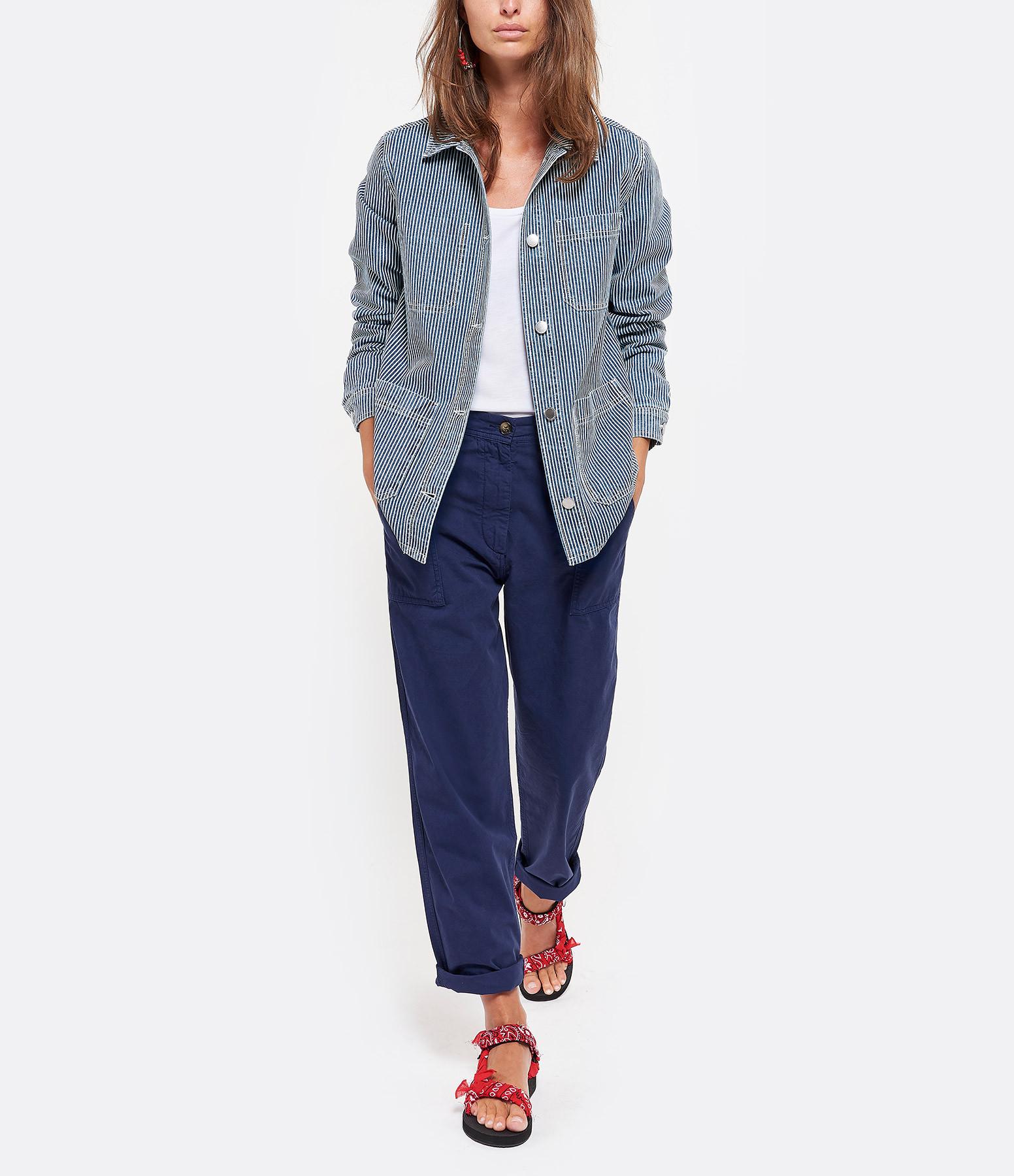 MAISON STANDARDS - Veste Peintre Coton Bleu Vert