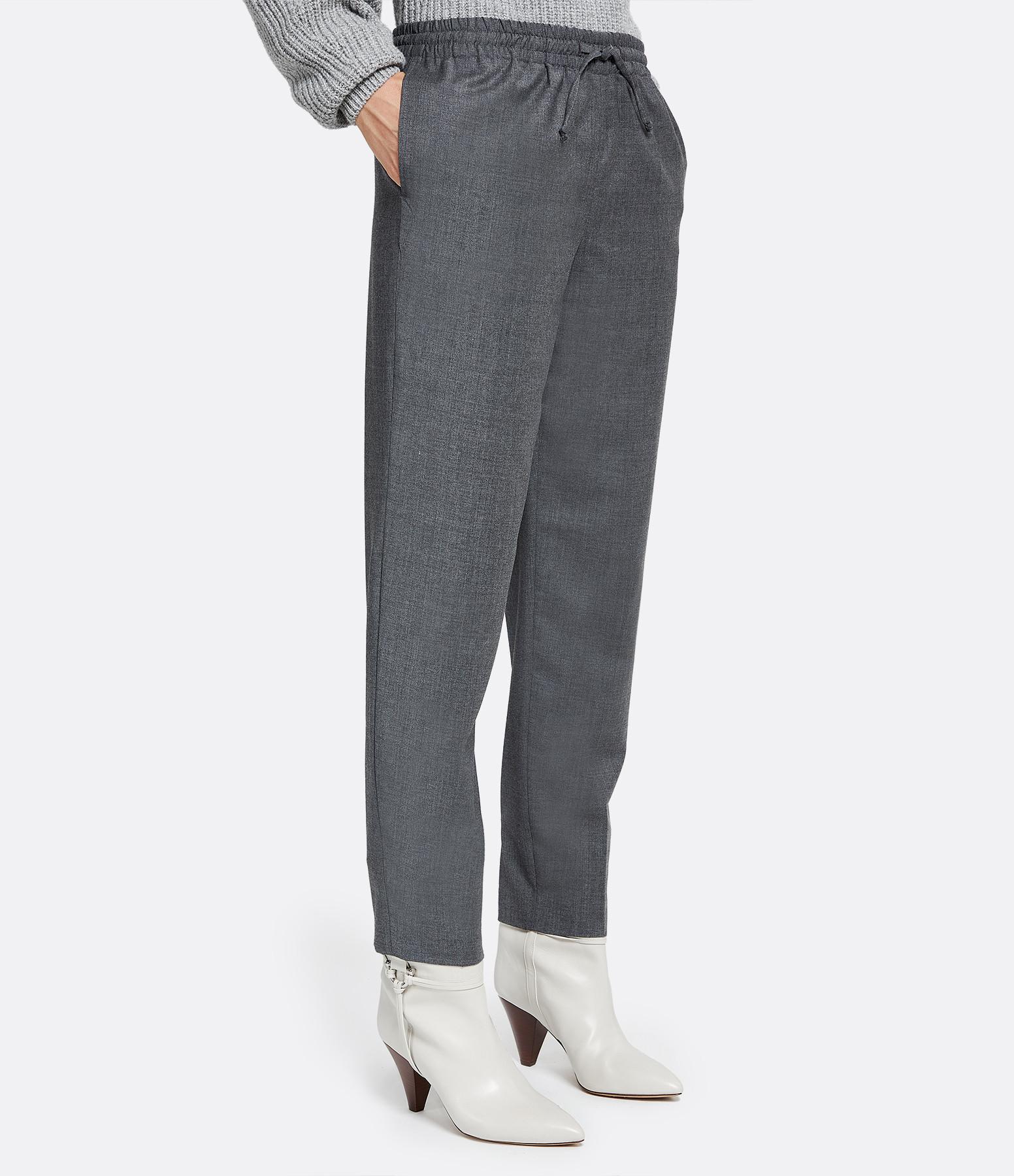 MAISON STANDARDS - Pantalon Ceinture Élastiquée Gris