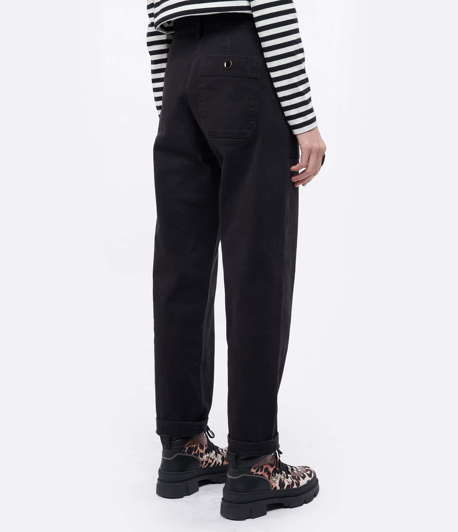MAISON STANDARDS - Pantalon Worker Noir