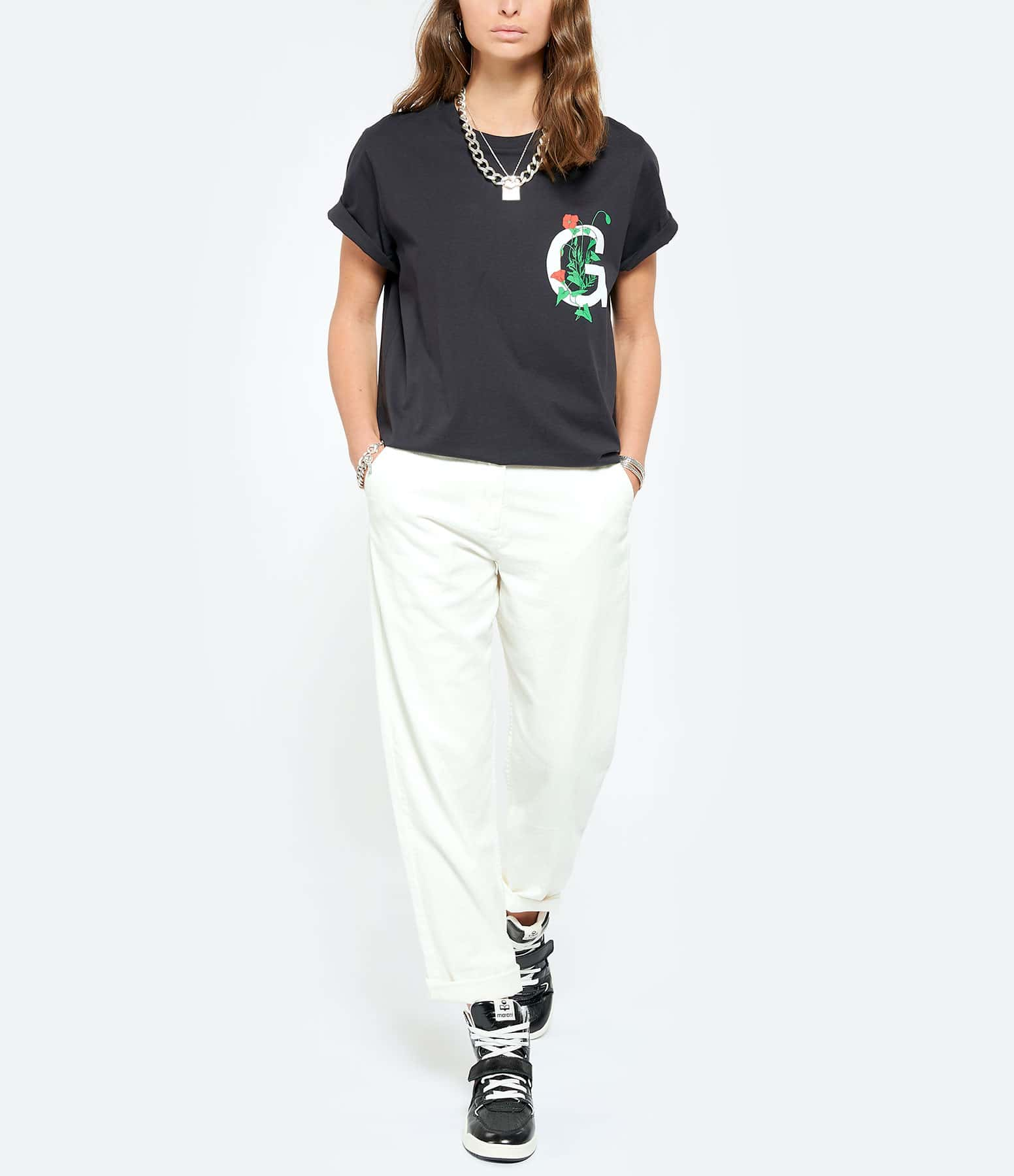 MAISON STANDARDS - Pantalon Chino Coton Écru