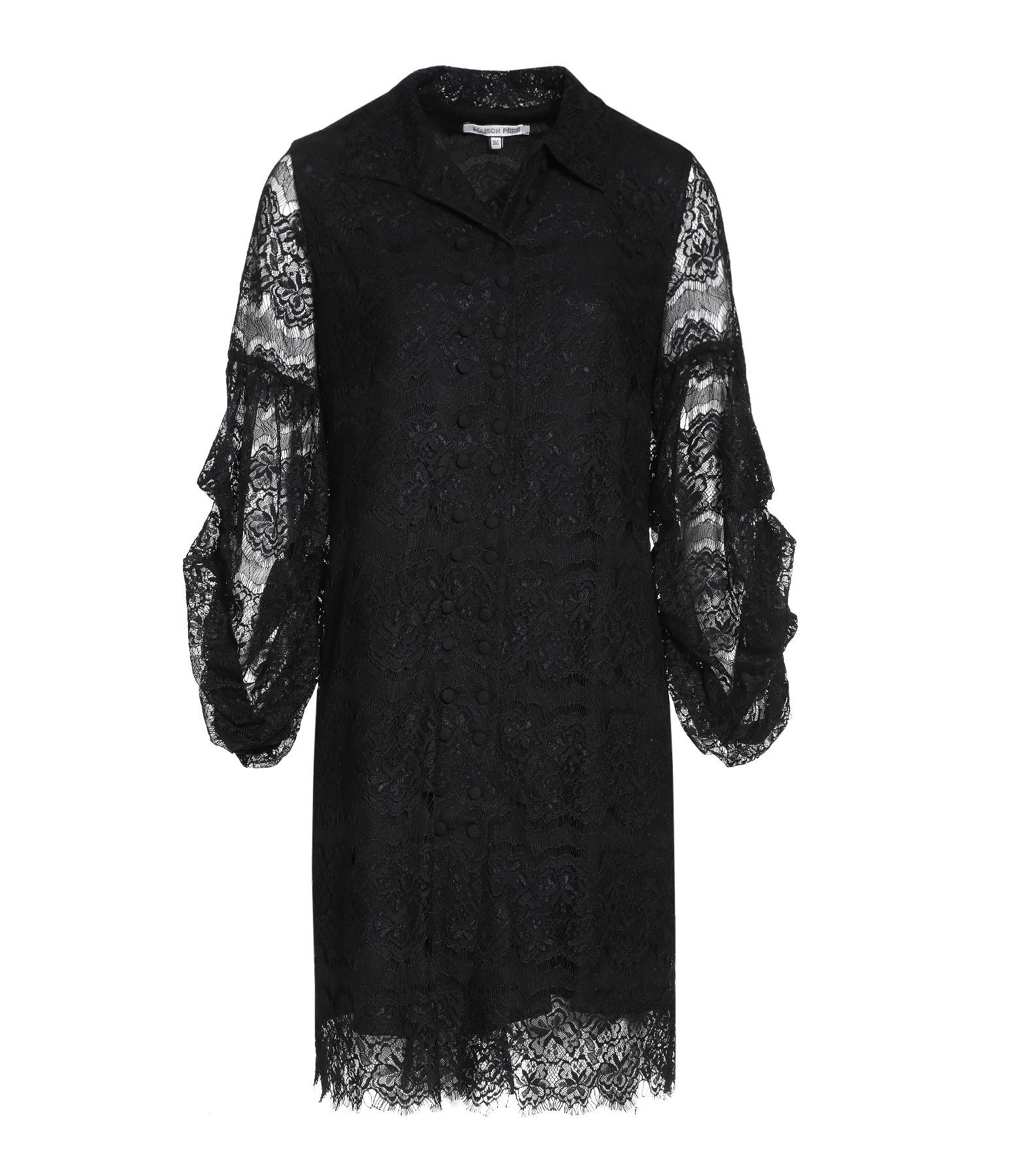 MAISON PÈRE - Robe Dentelles Noir