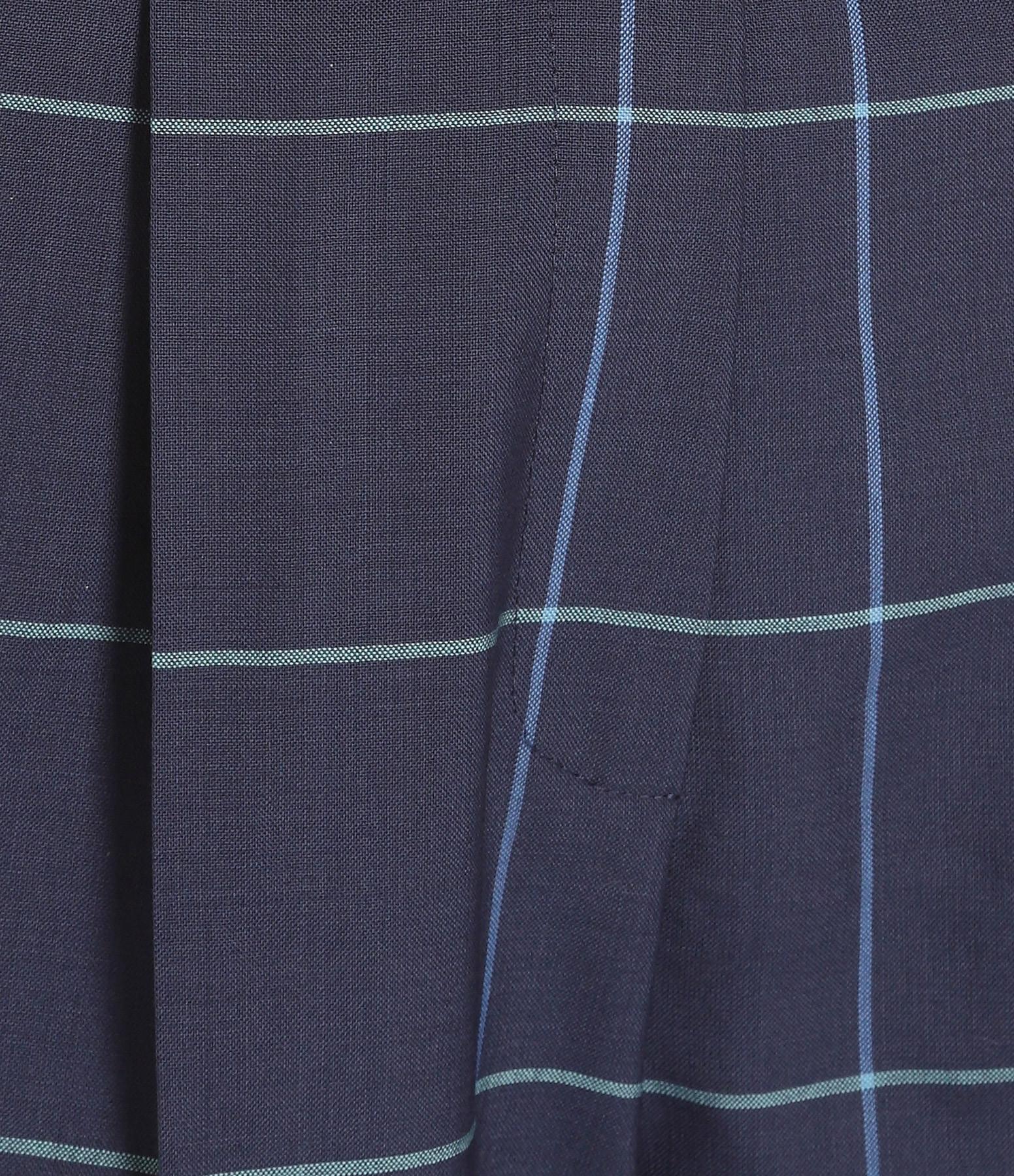 MAISON PÈRE - Pantalon Carreaux Laine Navy