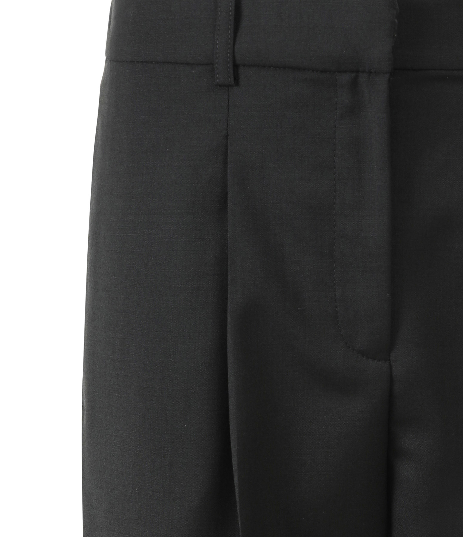MAISON STANDARDS - Pantalon Loose Laine Noir