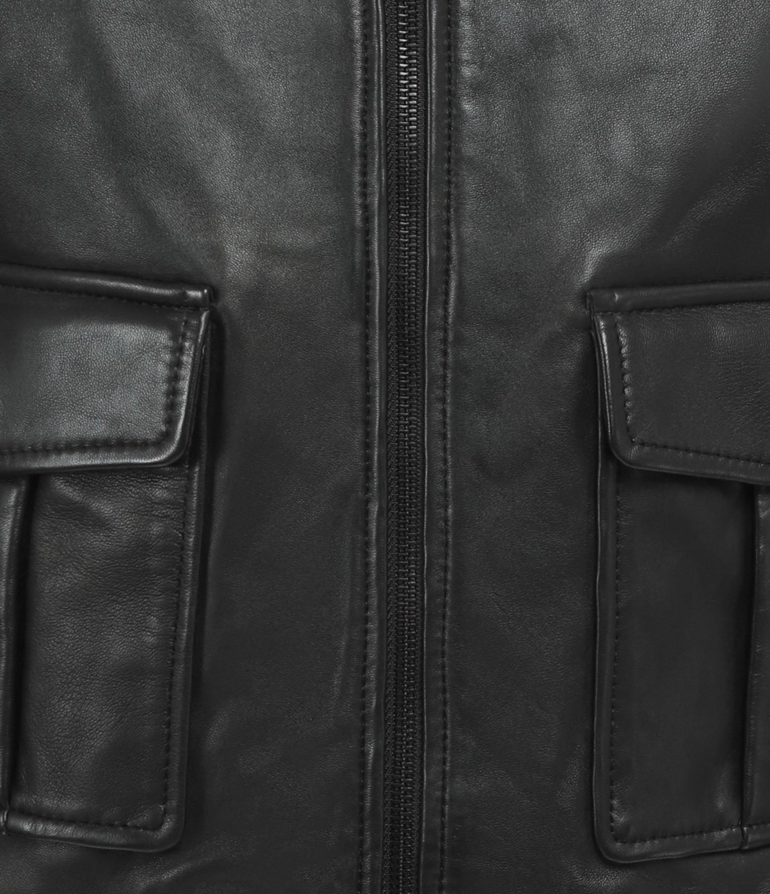 MAISON STANDARDS - Blouson Cuir Noir