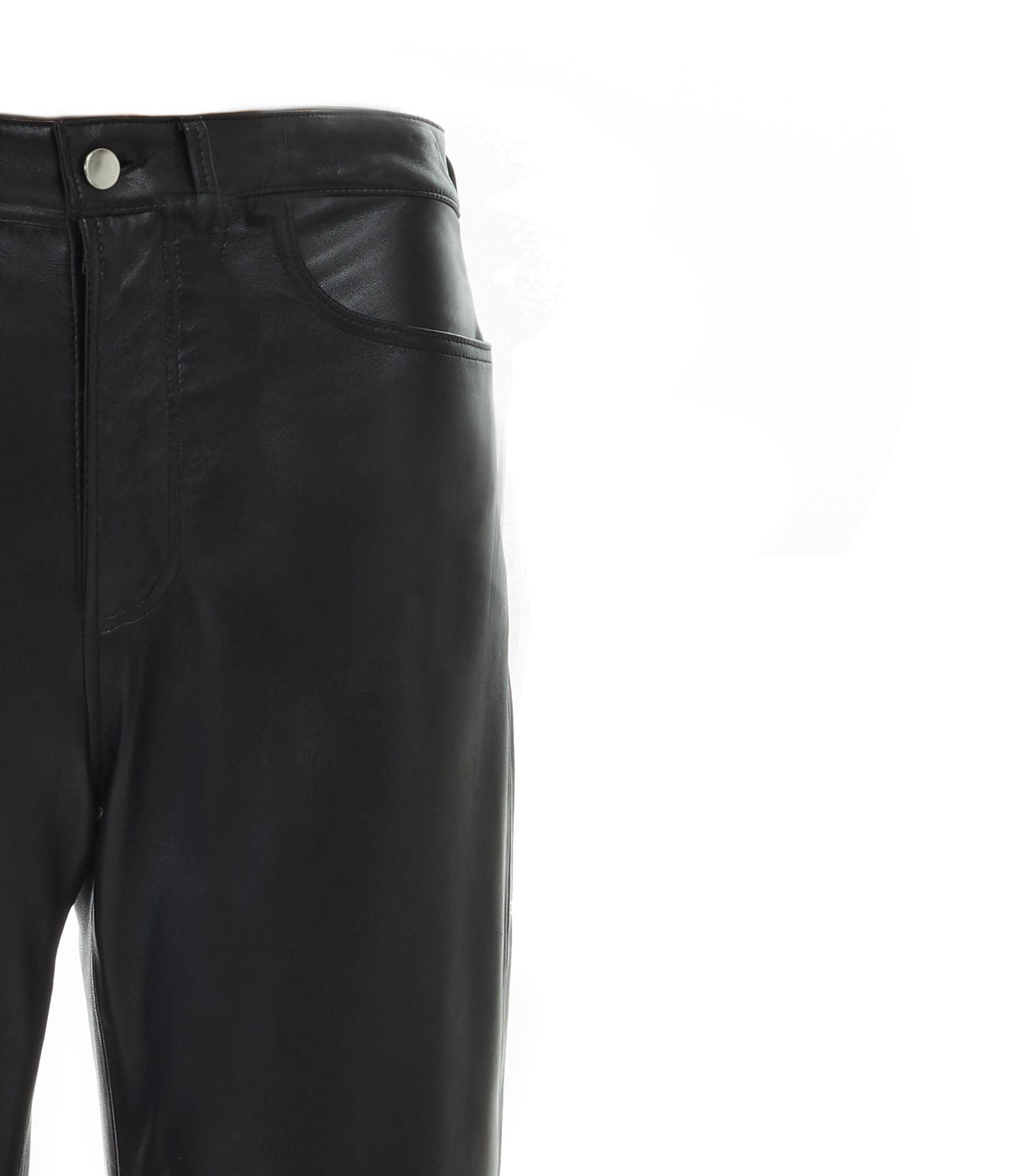 MAISON STANDARDS - Pantalon Cuir Noir