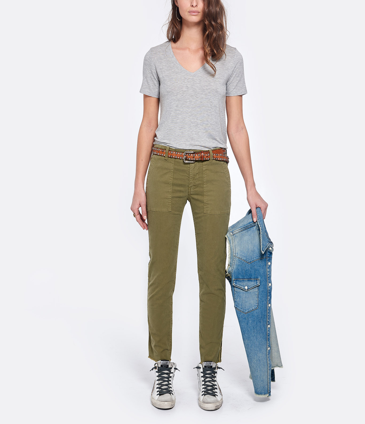 NILI LOTAN - Pantalon Jenna Sage Marron