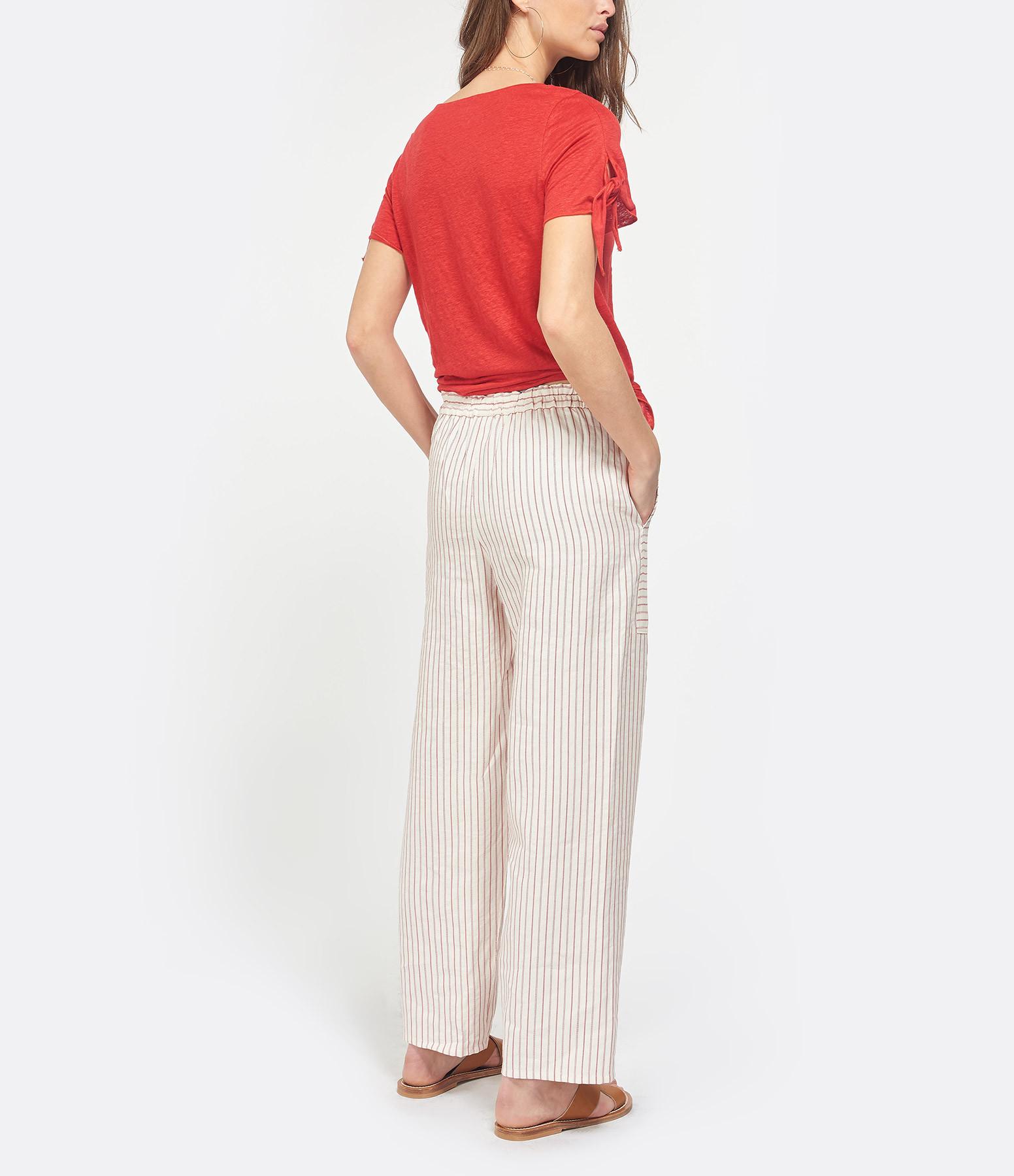 VANESSA BRUNO - Pantalon Galien Ivoire Rouge