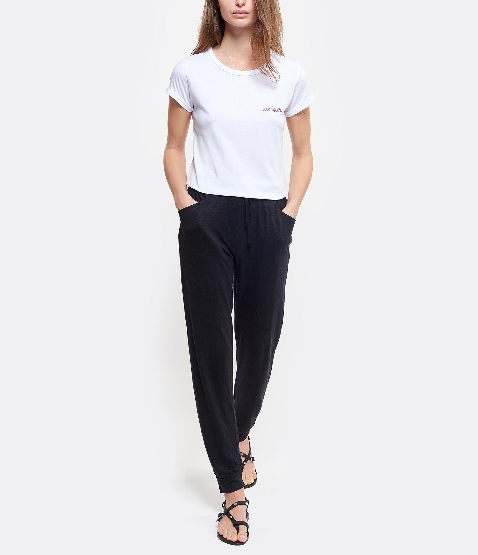 MAJESTIC FILATURES - Pantalon Jogging Lin Noir