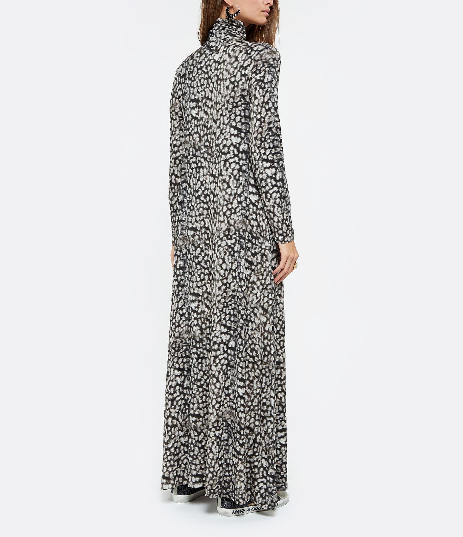 MAJESTIC FILATURES - Robe Col Roulé Jaguar Noir