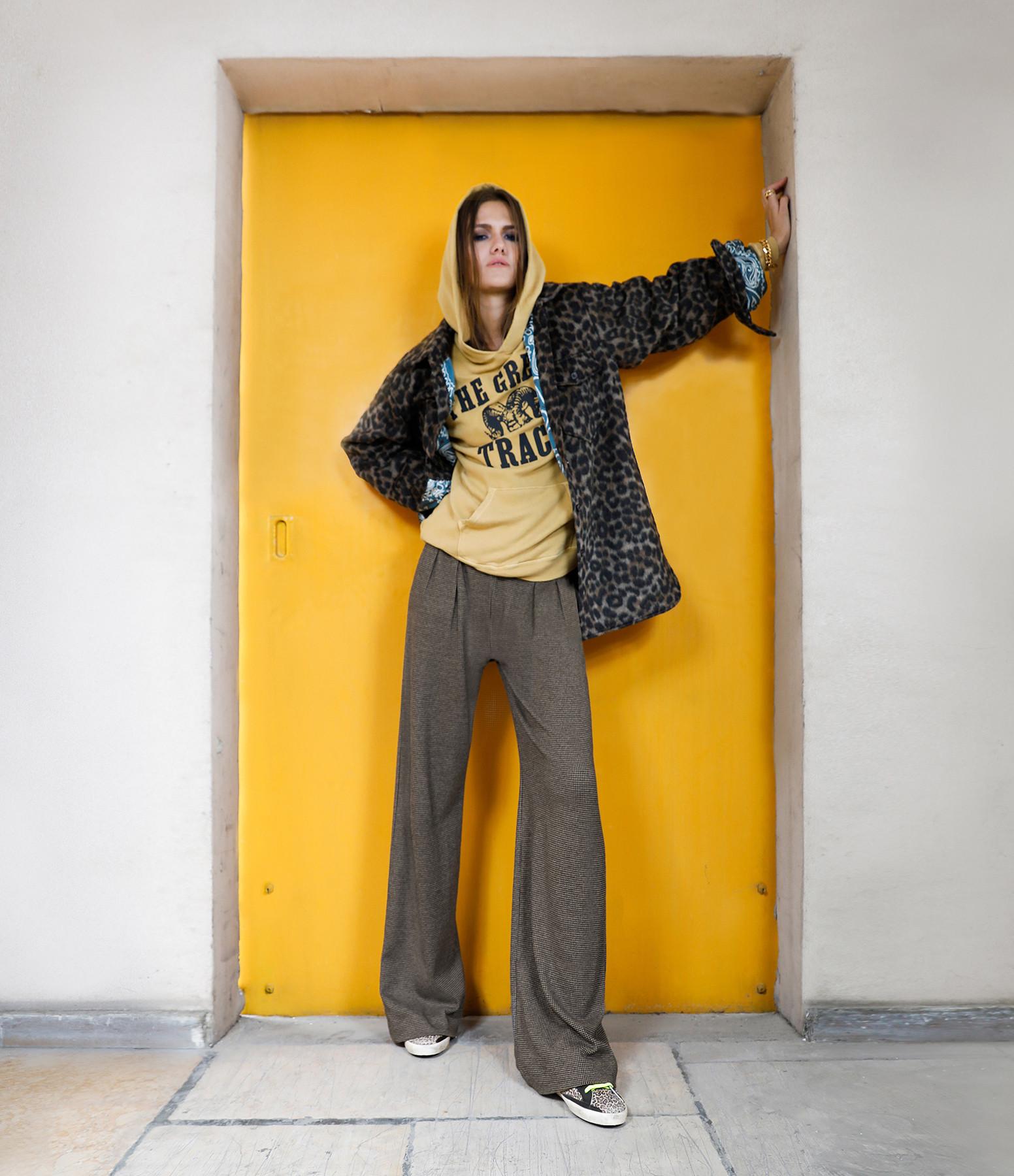 MAJESTIC FILATURES - Pantalon Large Coton Camel