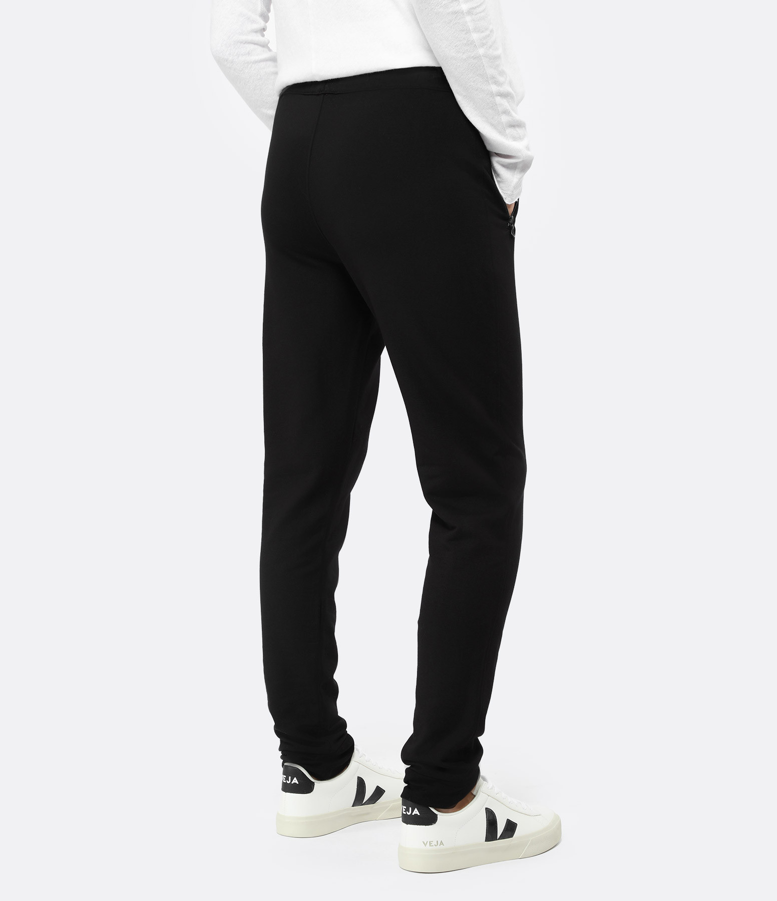 MAJESTIC FILATURES - Pantalon Zip Noir