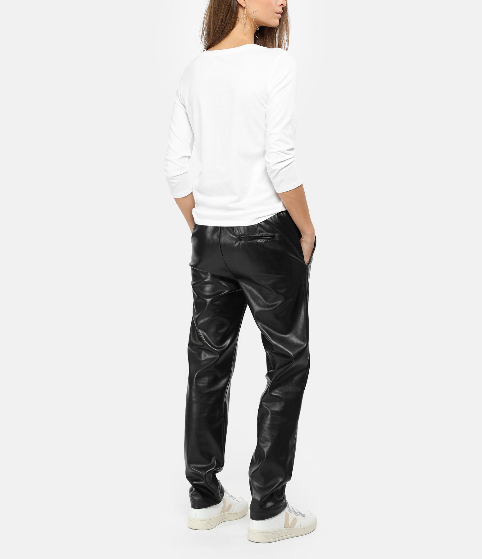 MAJESTIC FILATURES - Tee-shirt Col Bateau Blanc