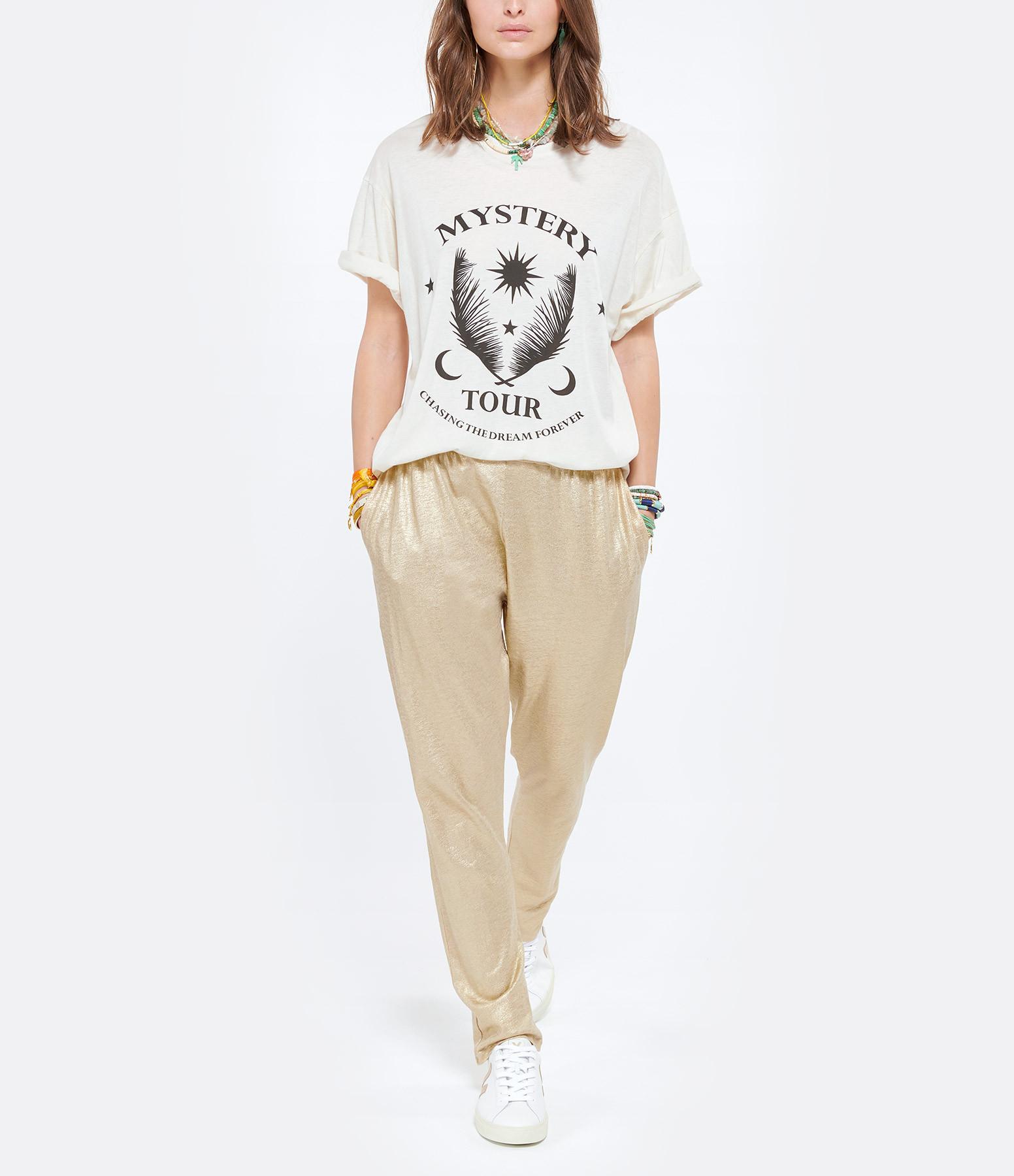 MAJESTIC FILATURES - Pantalon Lin Sable Doré
