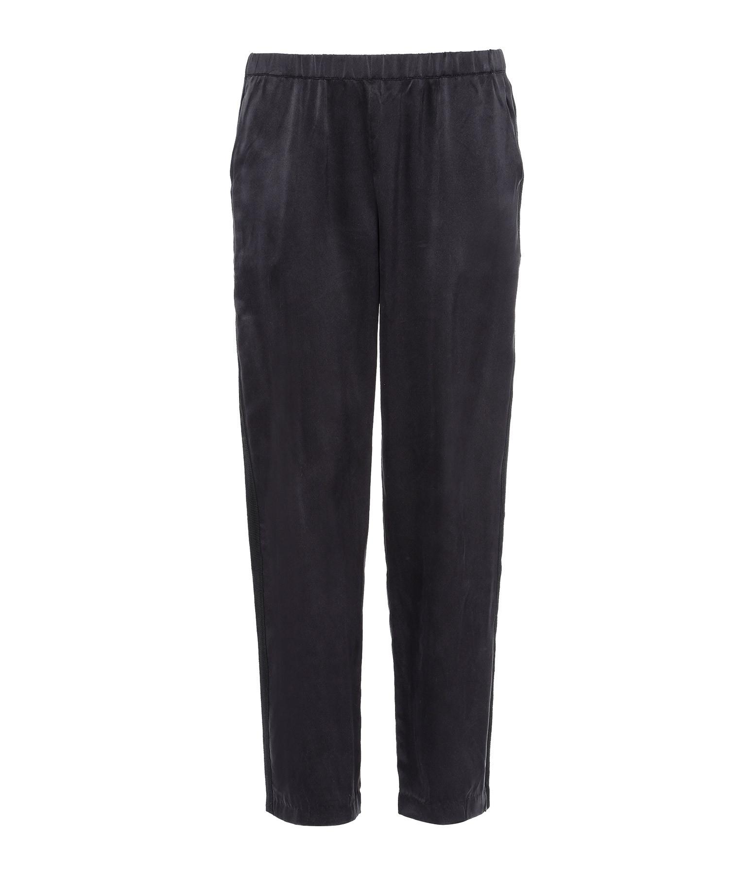 MAJESTIC FILATURES - Pantalon Soie Noir
