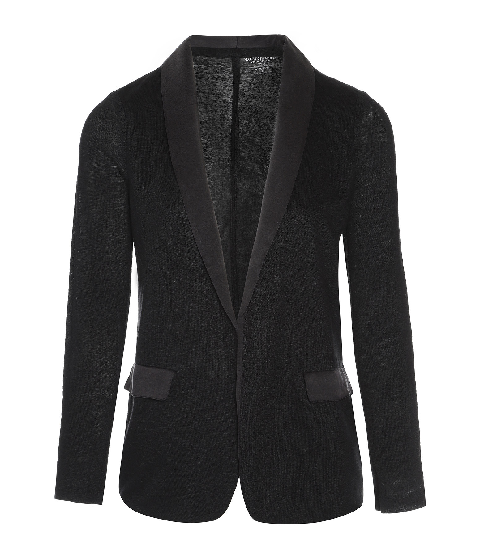 MAJESTIC FILATURES - Blazer Smoking Soie Noir