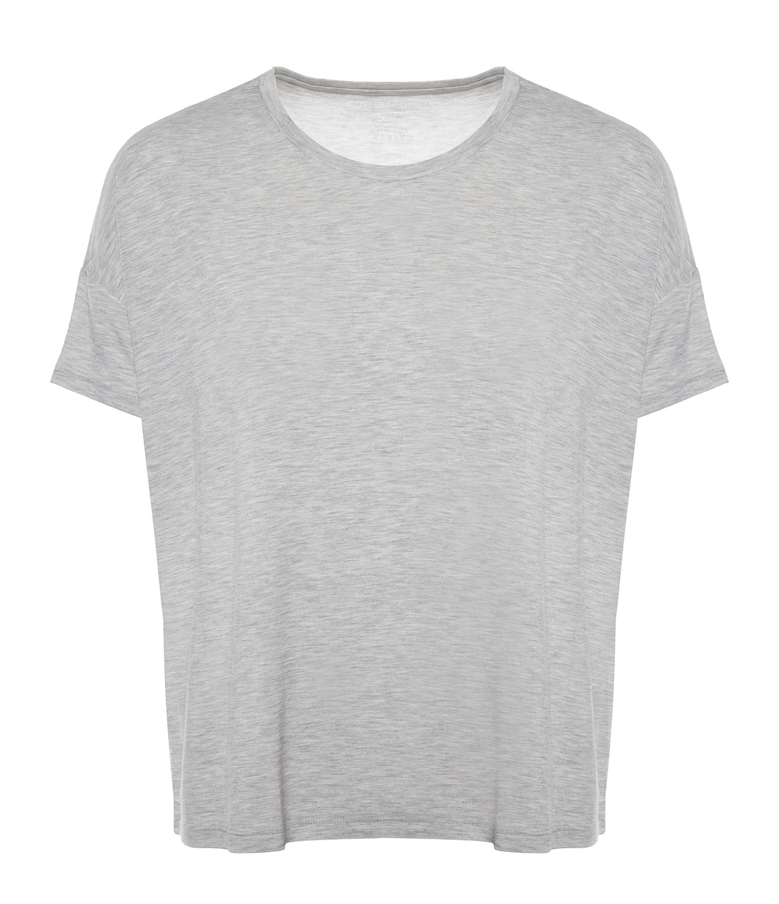MAJESTIC FILATURES - Tee-shirt Col Rond Brume Chiné