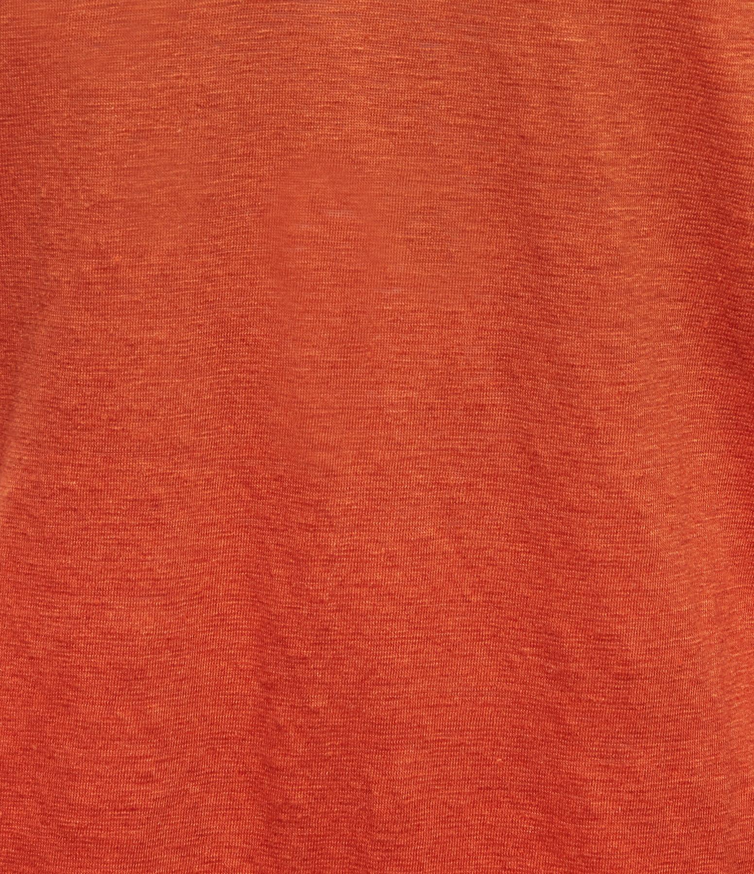MAJESTIC FILATURES - Robe Débardeur Lin Rouge Monterosso