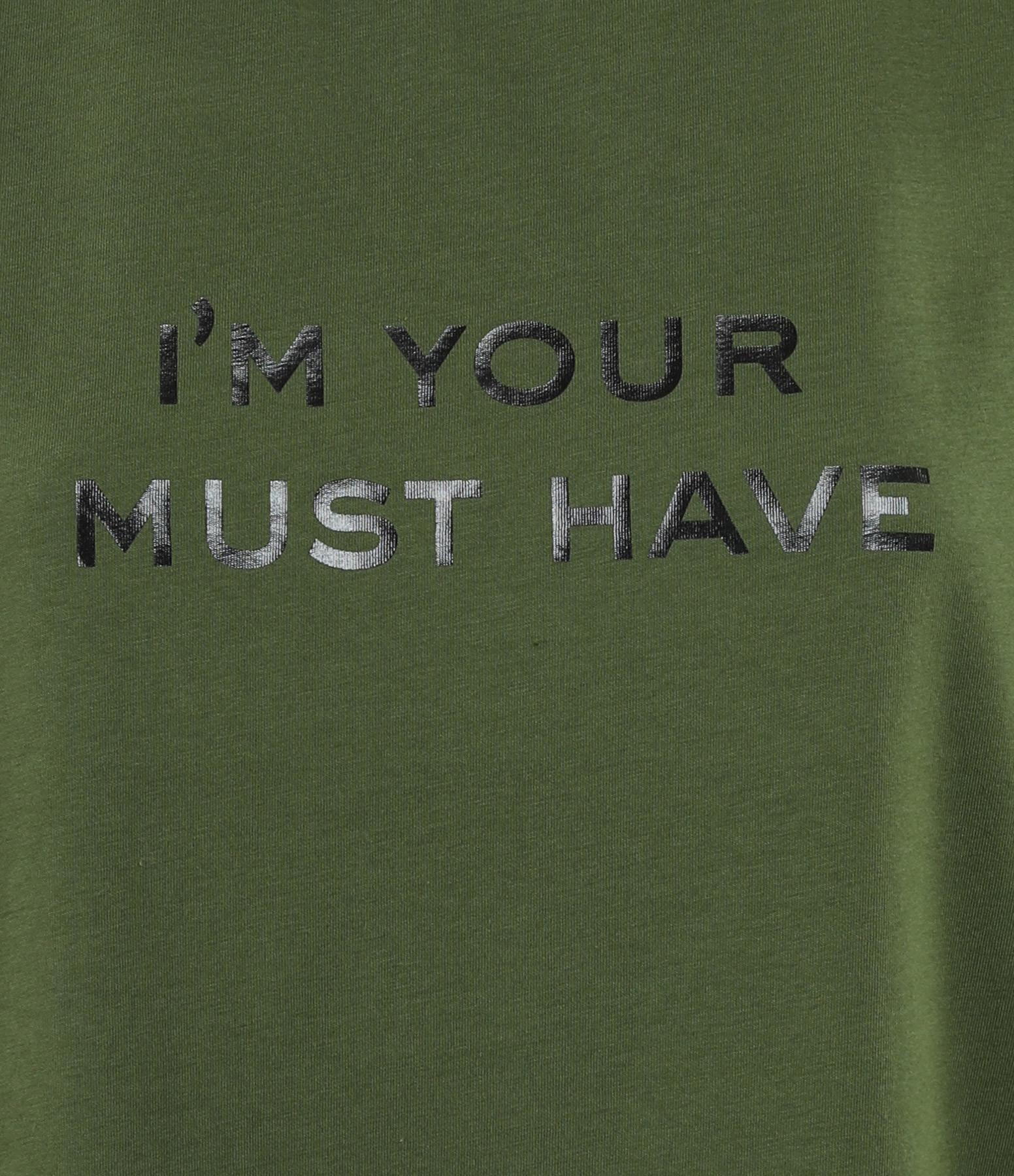 MAJESTIC FILATURES - Tee-shirt Col Rond New Coton Kaki, Cindy Bruna
