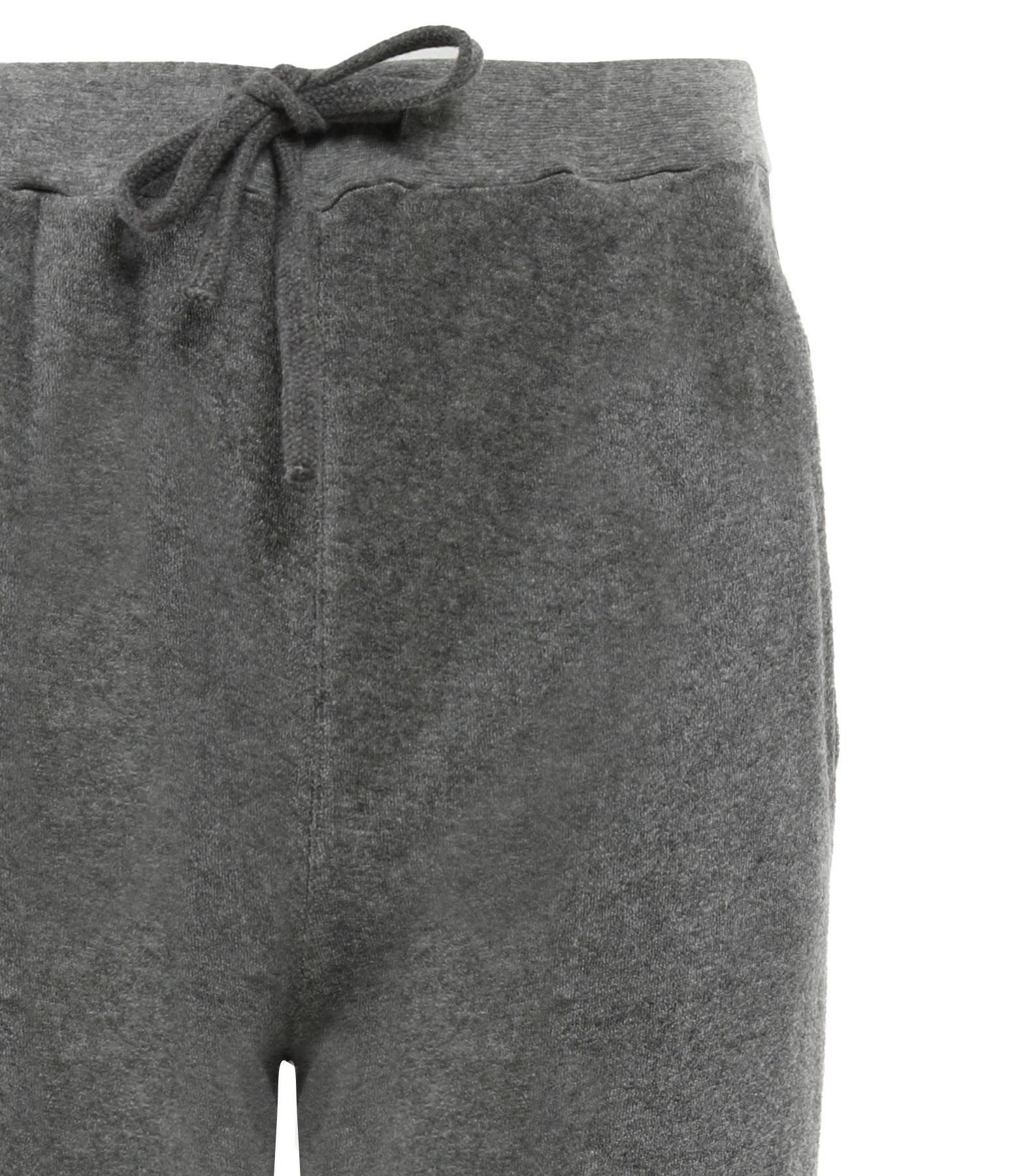 MAJESTIC FILATURES - Jogging Coton Gris Chiné, Collection Cindy Bruna