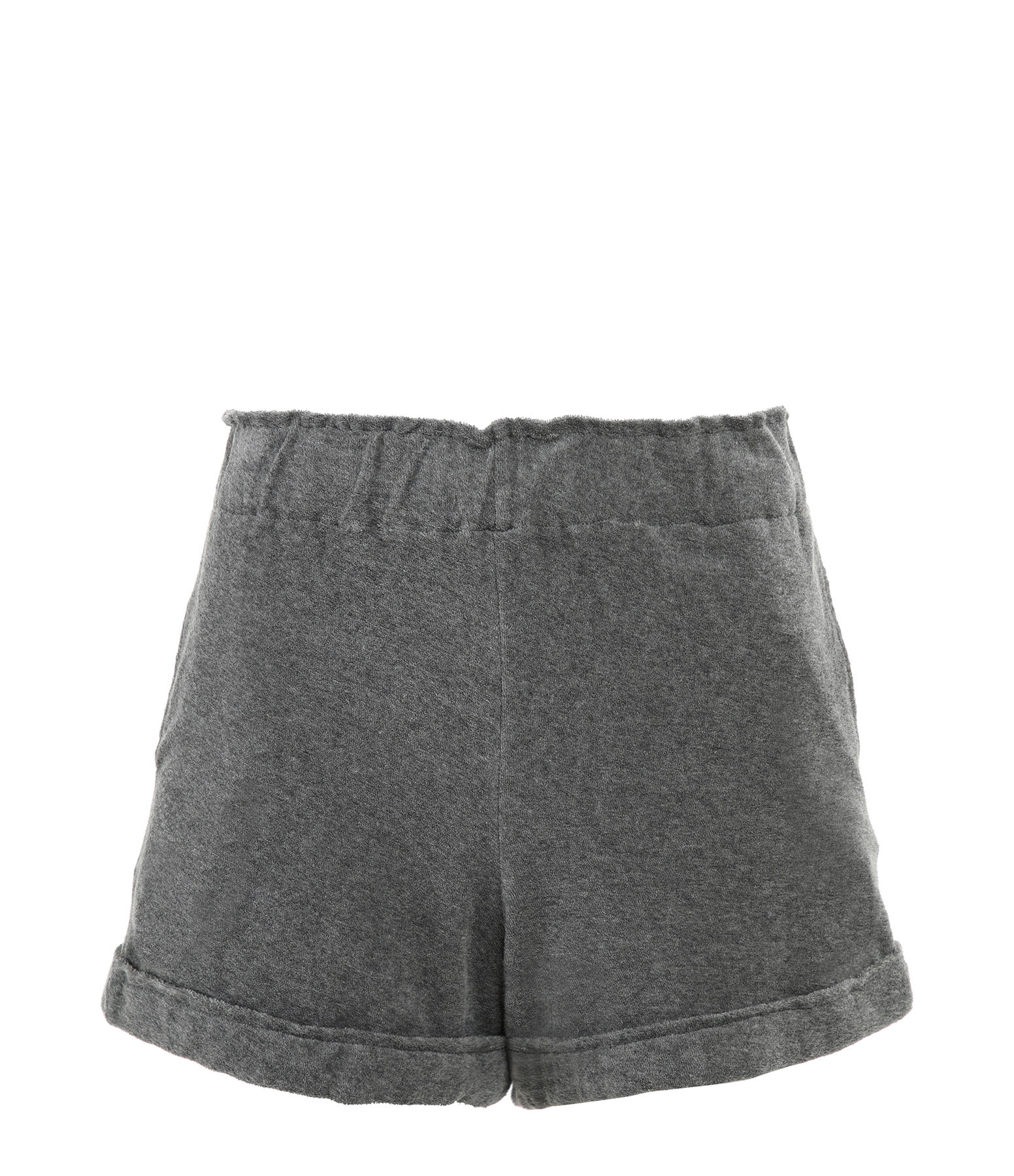 MAJESTIC FILATURES - Short Coton Gris Chiné, Collection Cindy Bruna
